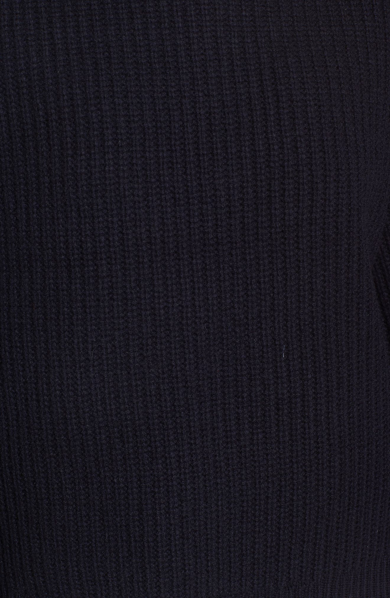 Boatneck Bubble Sleeve Sweater,                             Alternate thumbnail 5, color,                             Navy