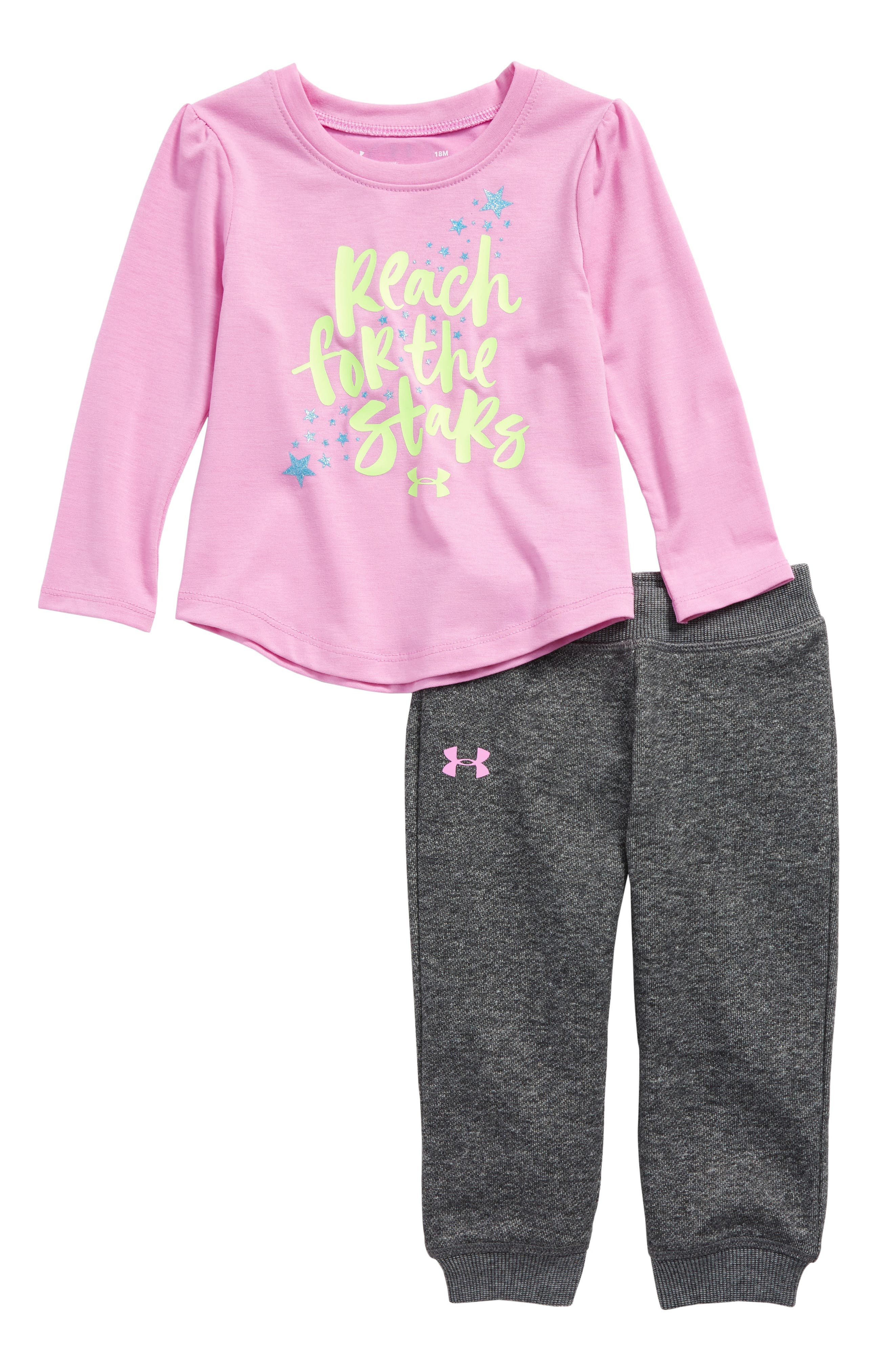 Under Armour Reach For The Stars Tee & Sweatpants Set (Baby Girls)