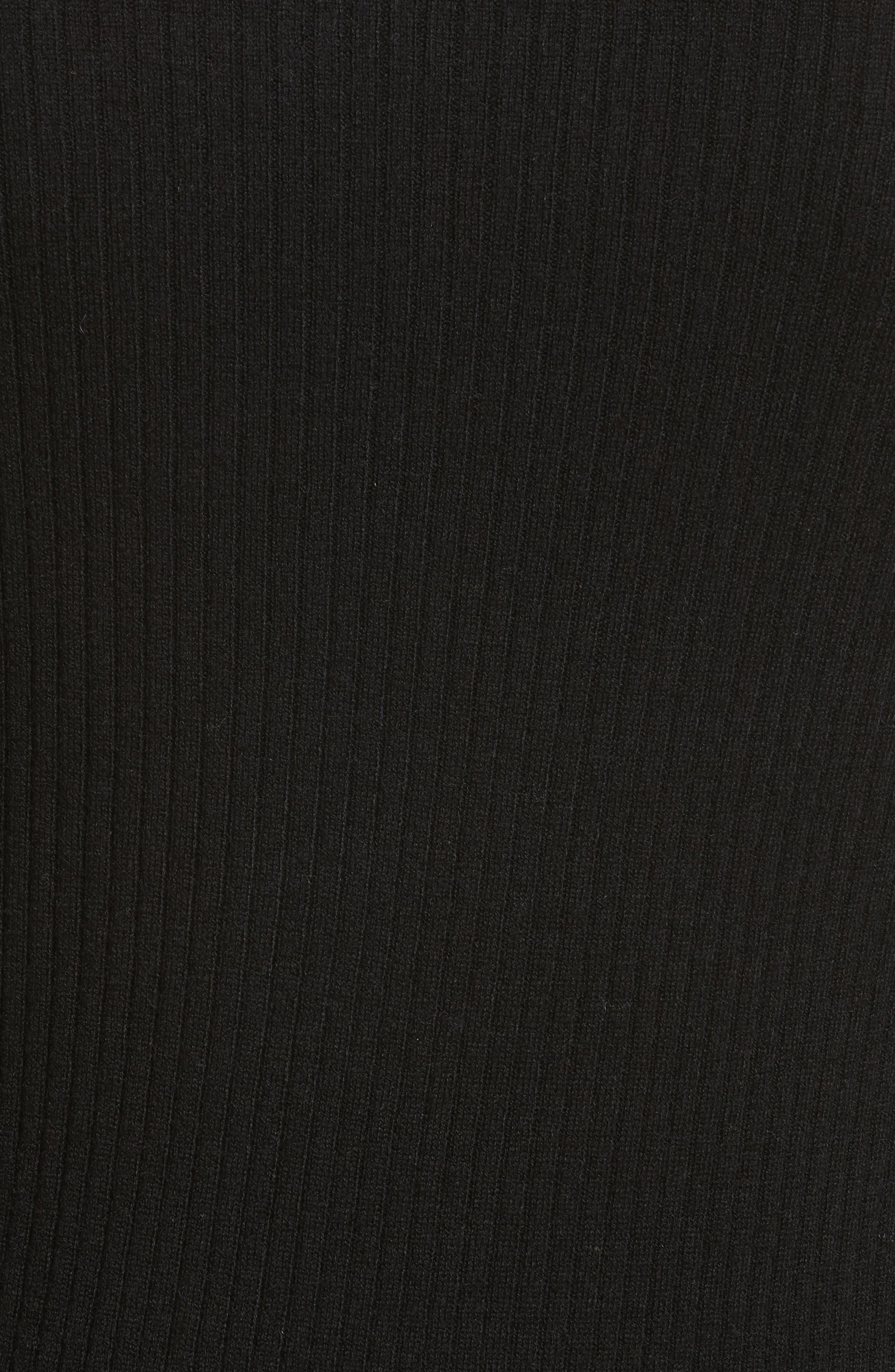 Double Ruffle Cuff Sweater,                             Alternate thumbnail 5, color,                             Noir Multi