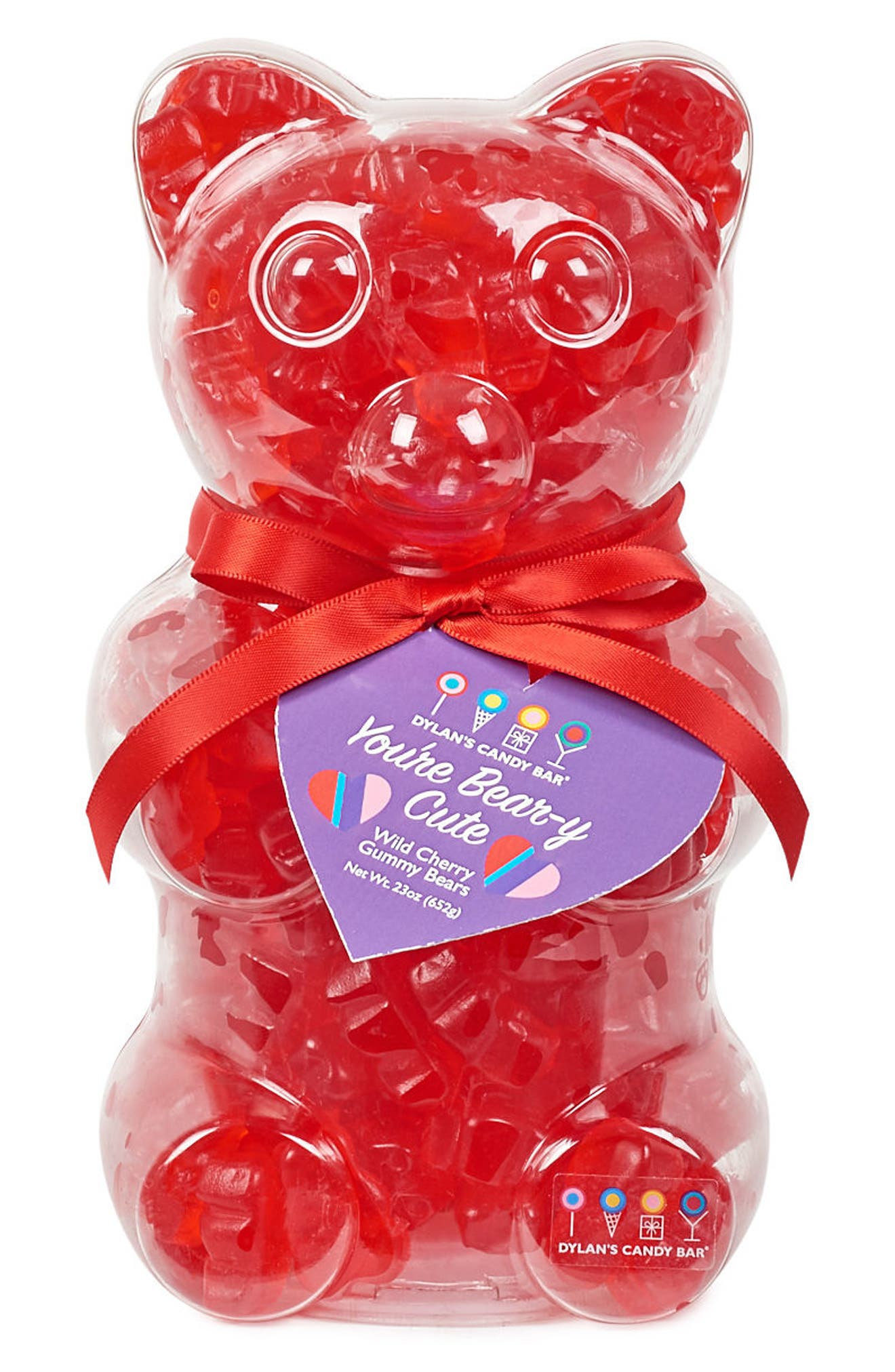 You're Beary Cute Filled Gummy Bear,                         Main,                         color, Red