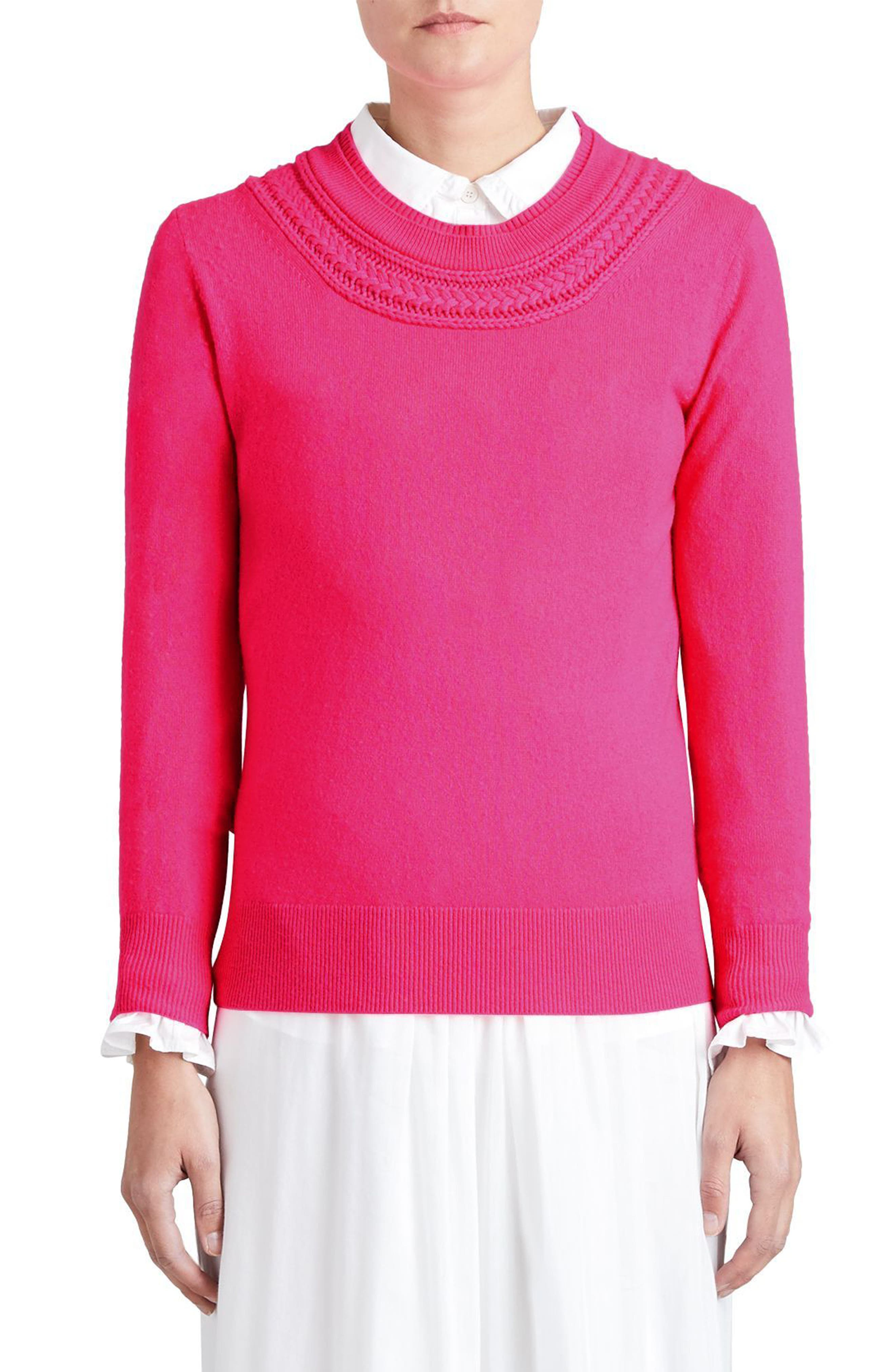 Guadaira Cashmere Sweater,                         Main,                         color, Bright Rose Pink