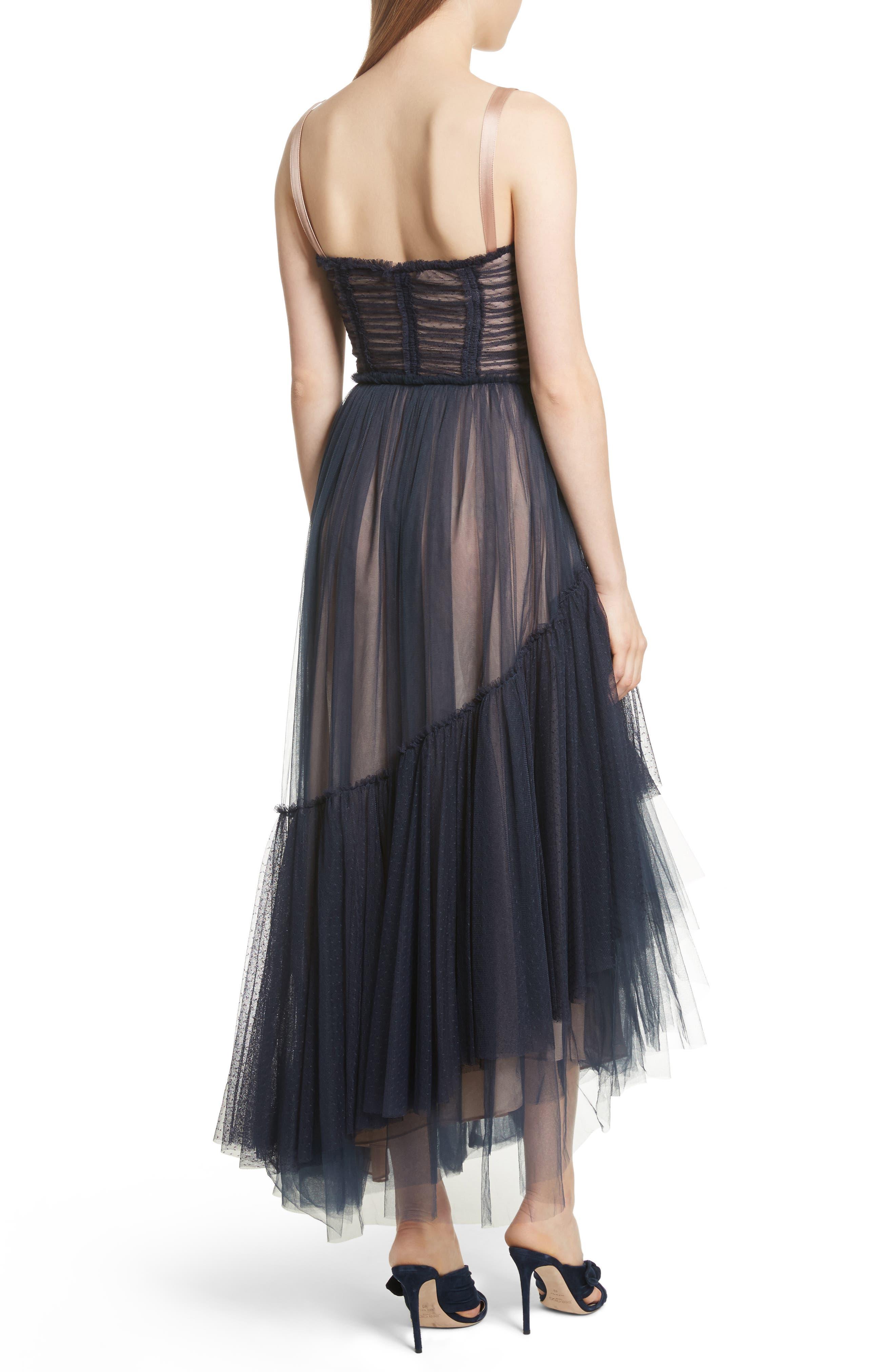 Alternate Image 2  - Cinq à Sept Coletta Asymmetrical Tulle Dress