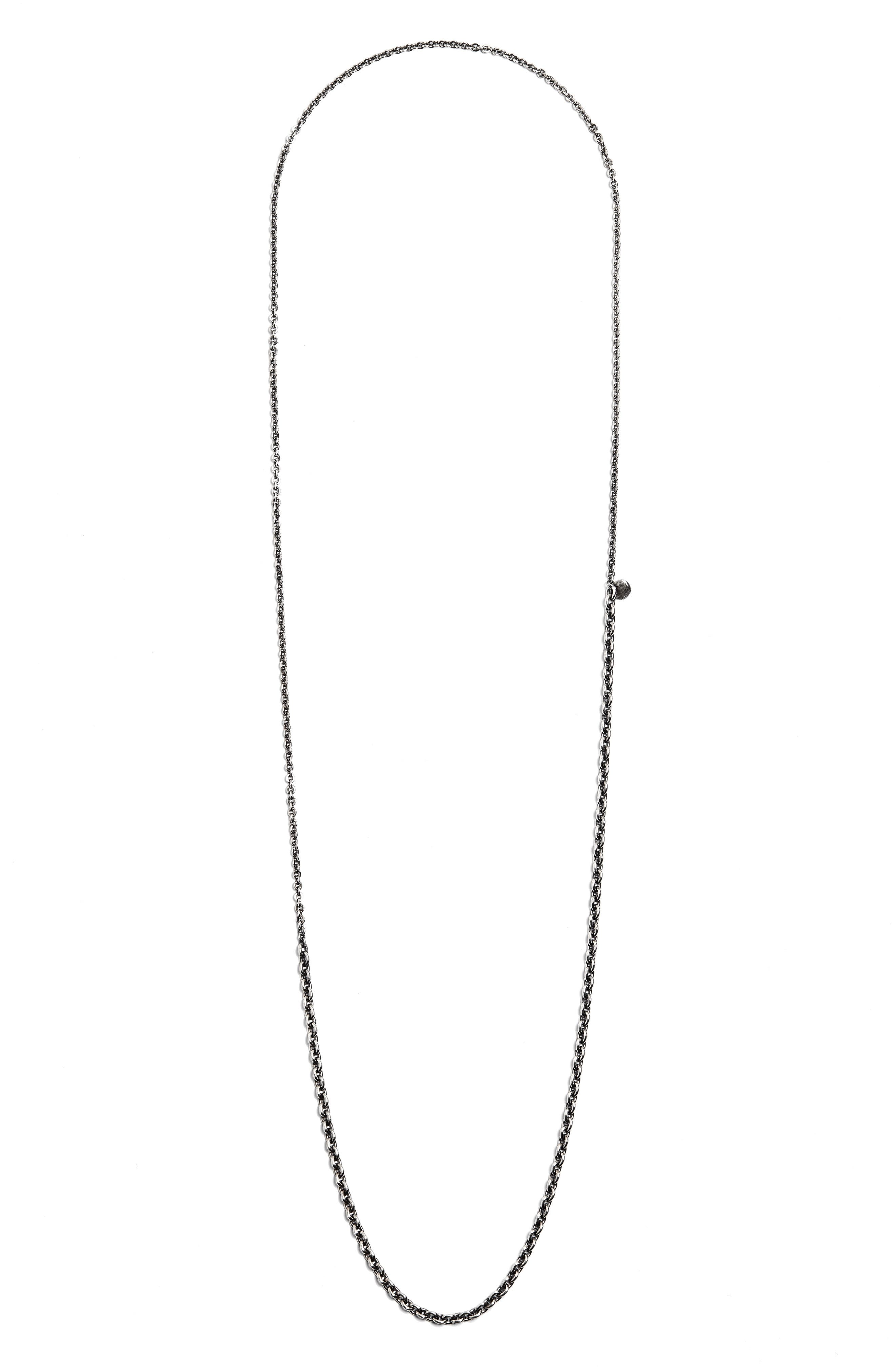 Small/Medium Cable Necklace,                         Main,                         color, Silver