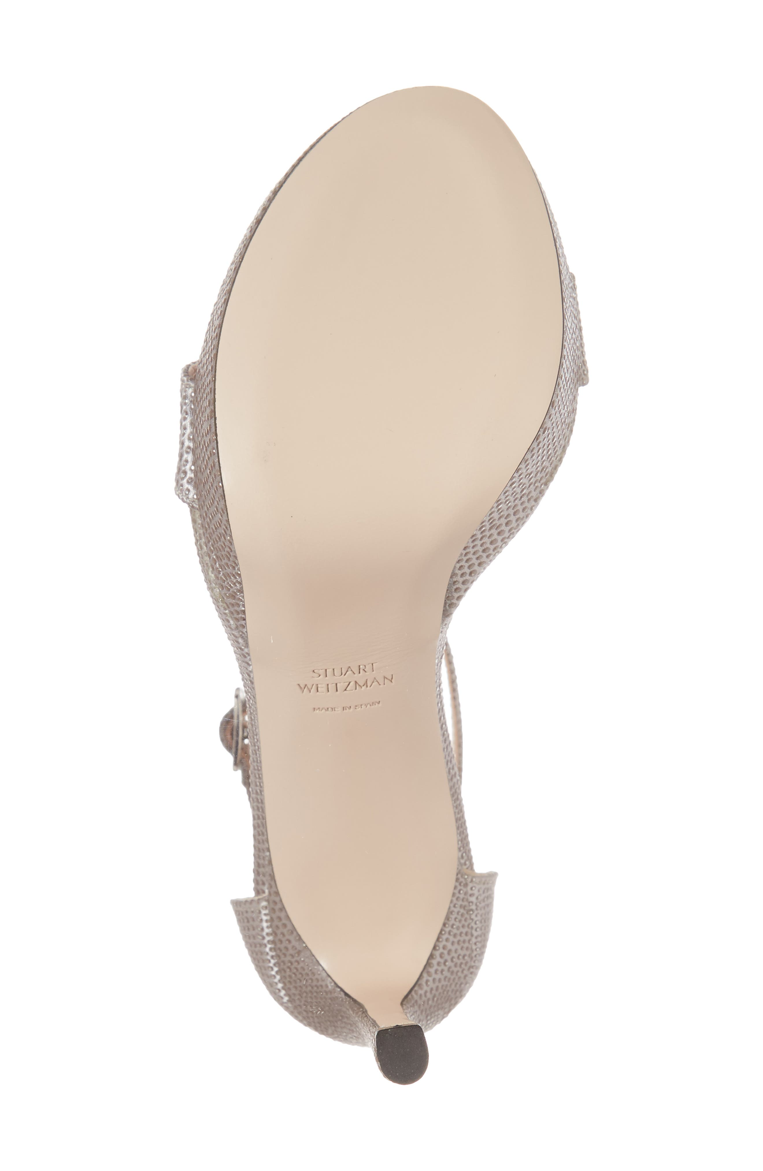 Stuart Weitzamn SOHOT Platform Sandal,                             Alternate thumbnail 6, color,                             Plata Crystaline