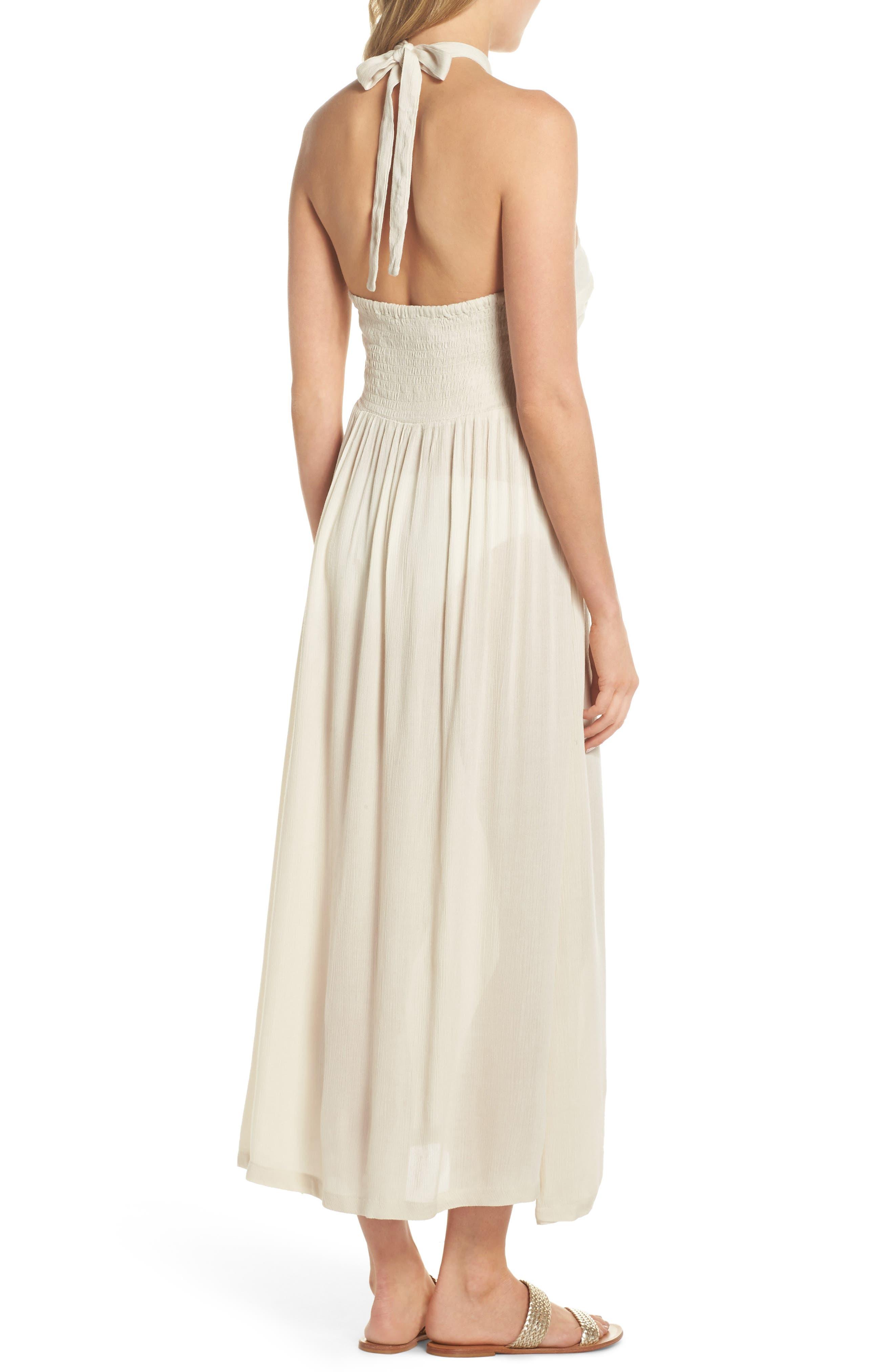 Midi Tie Back Cover-Up Dress,                             Alternate thumbnail 2, color,                             Stone