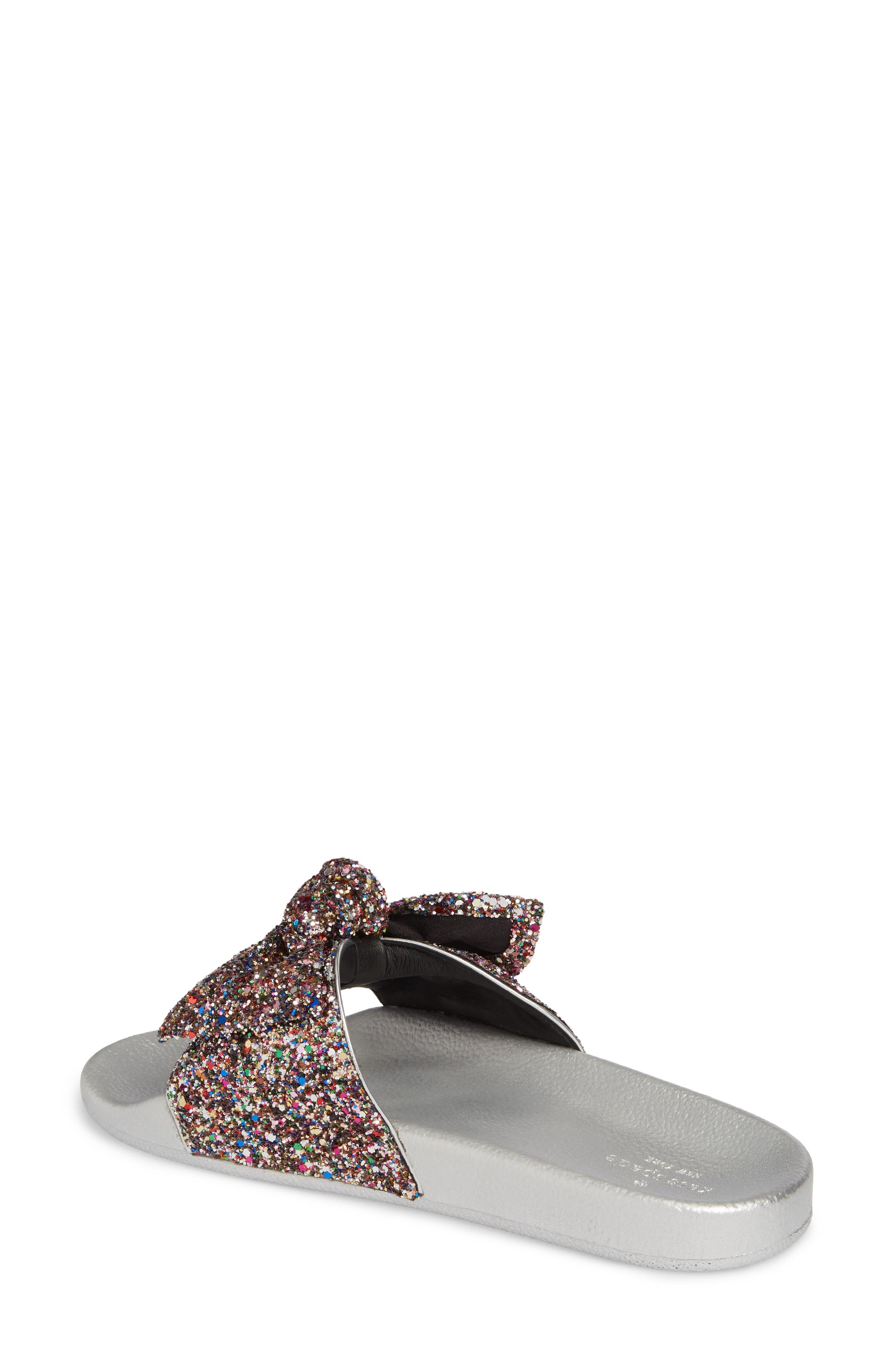 shellie slide sandal,                             Alternate thumbnail 2, color,                             Multi Glitter