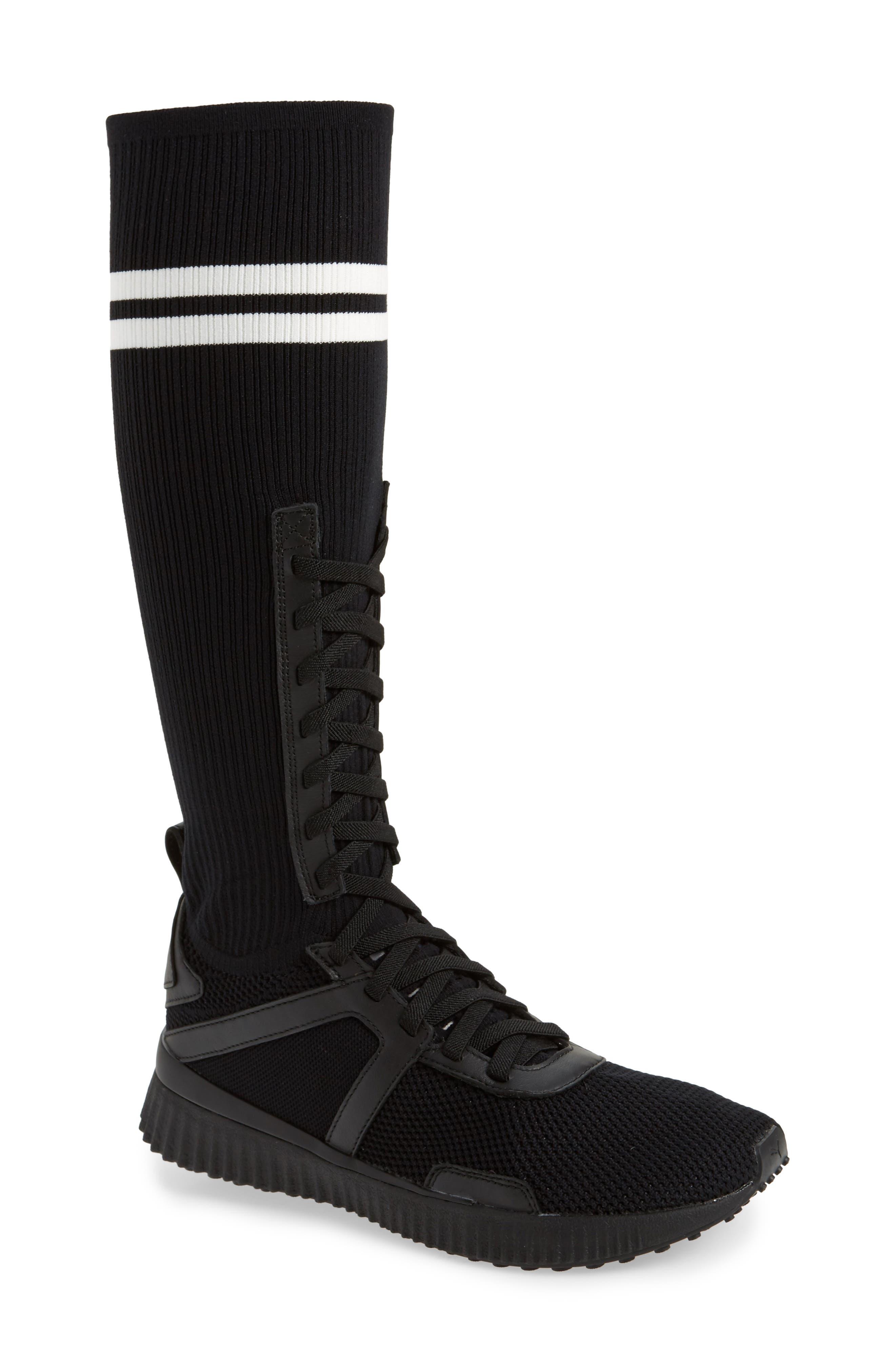 FENTY PUMA by Rihanna Sneaker Boot,                             Main thumbnail 1, color,                             Black/ White