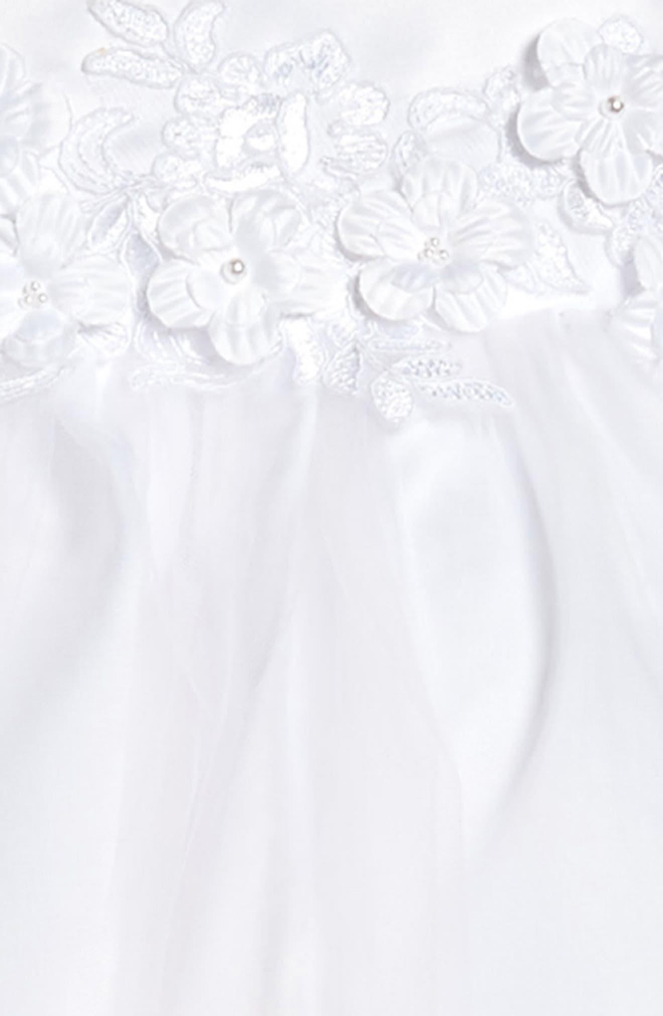 Alternate Image 3  - Us Angels Embellished Satin & Organza Dress (Little Girls & Big Girls)