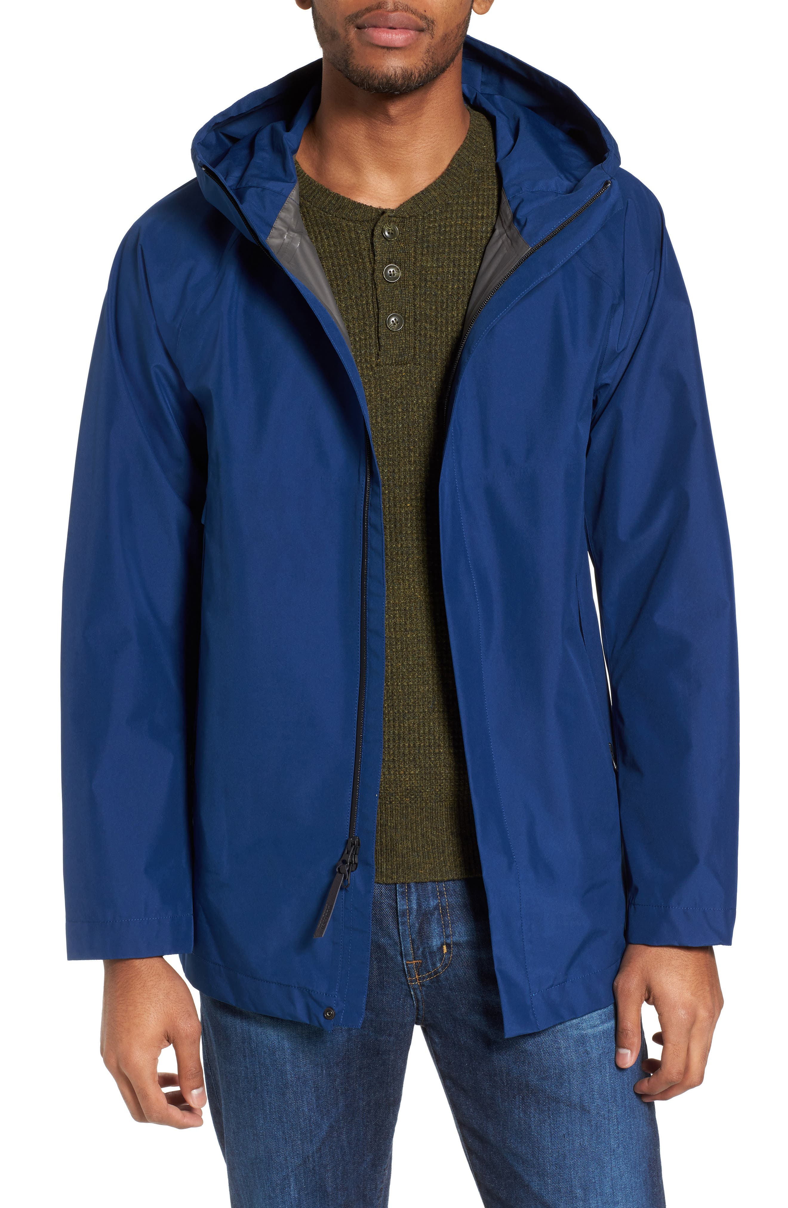 Atlantic Gore-Tex<sup>®</sup> Hooded Coat,                         Main,                         color, Active Blue Ace