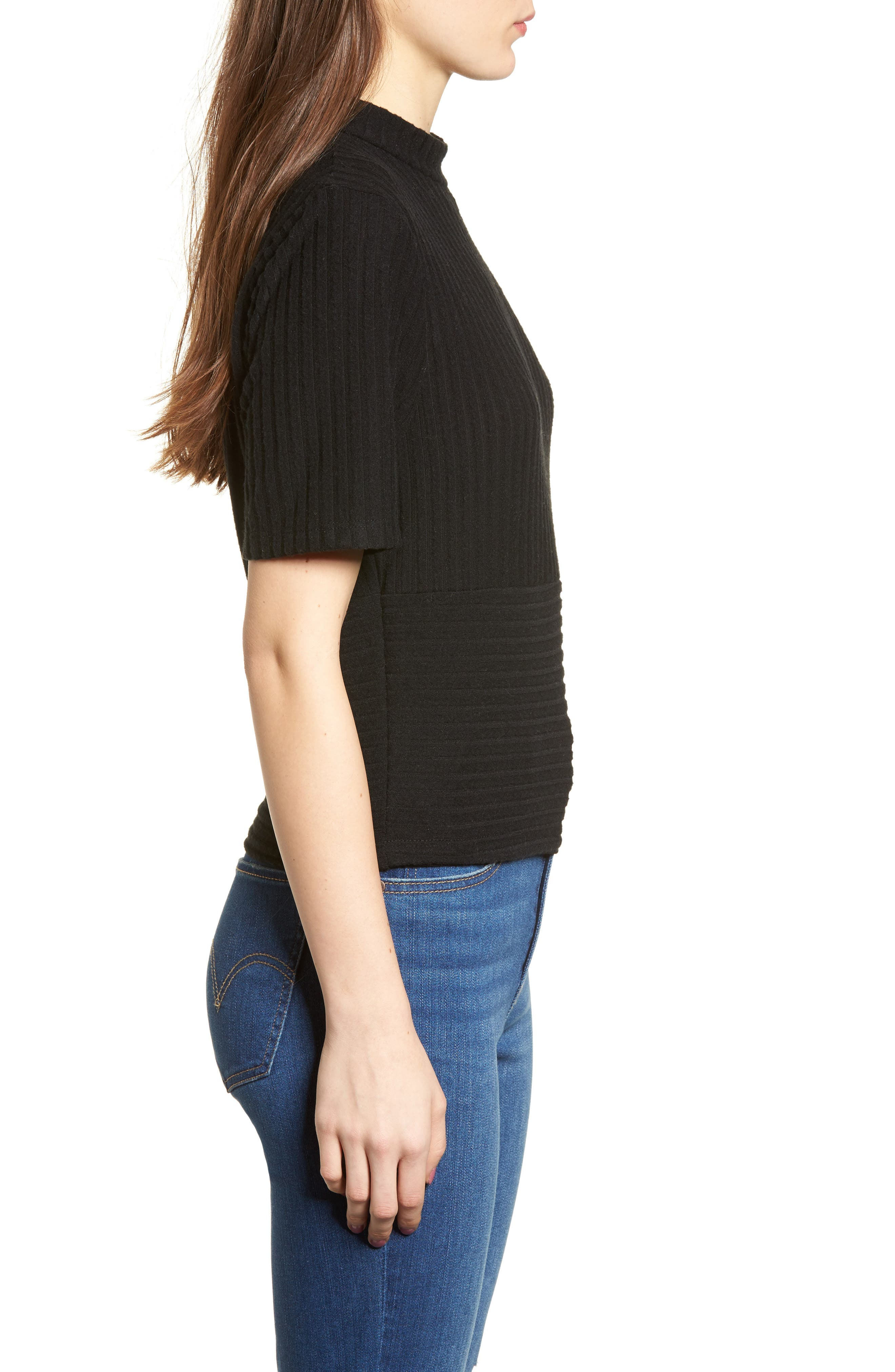 Alternate Image 3  - PST by Project Social T Mock Neck Ribbed Top