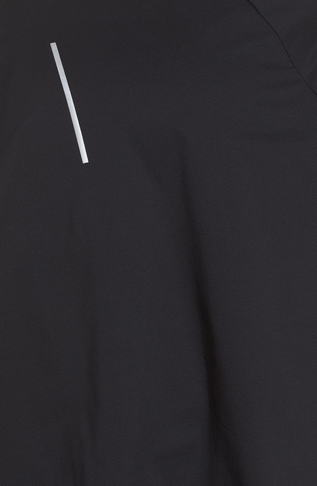 Flex Hooded Running Jacket,                             Alternate thumbnail 6, color,                             Black