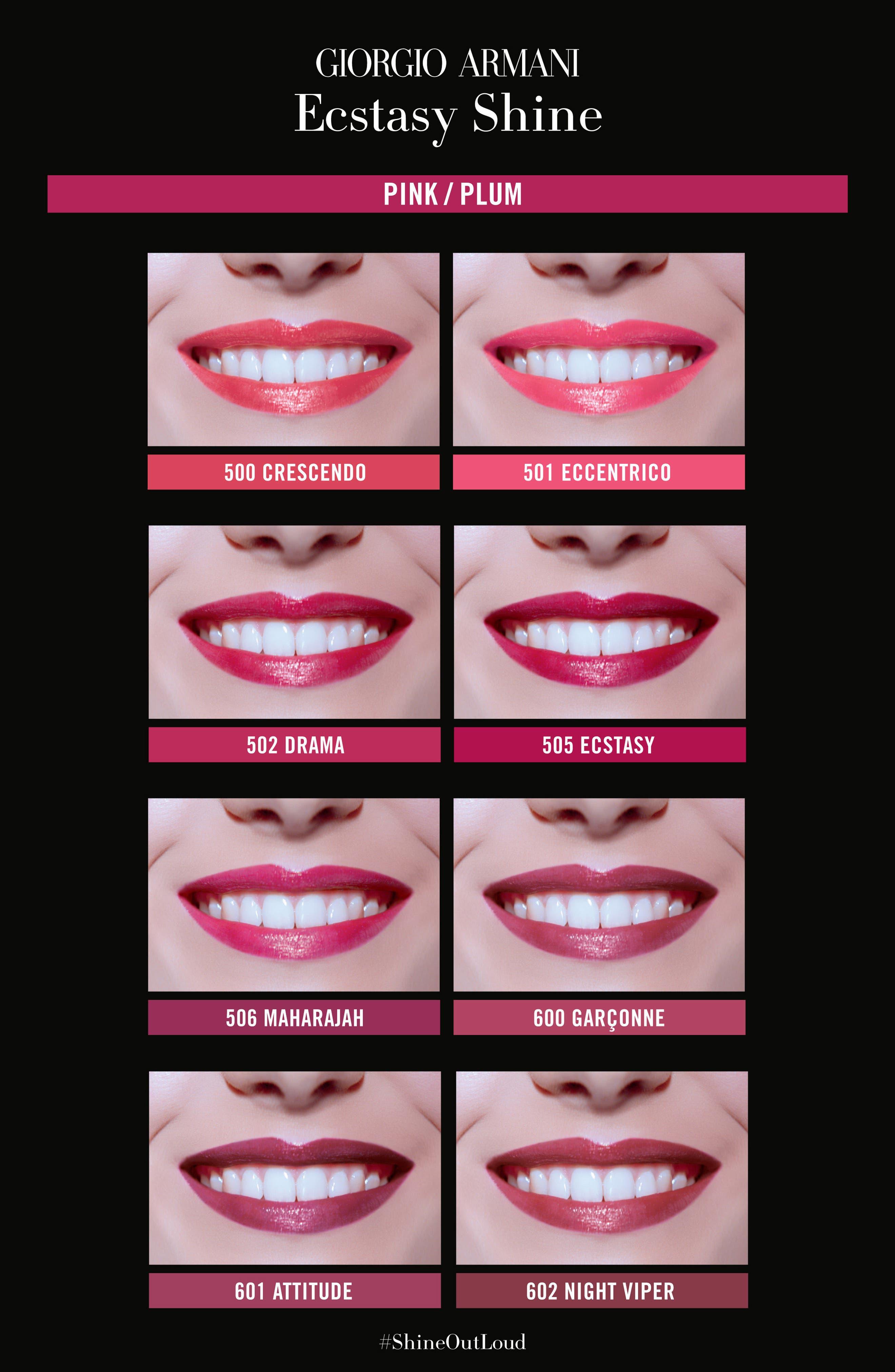 Alternate Image 3  - Giorgio Armani Ecstasy Shine Lipstick