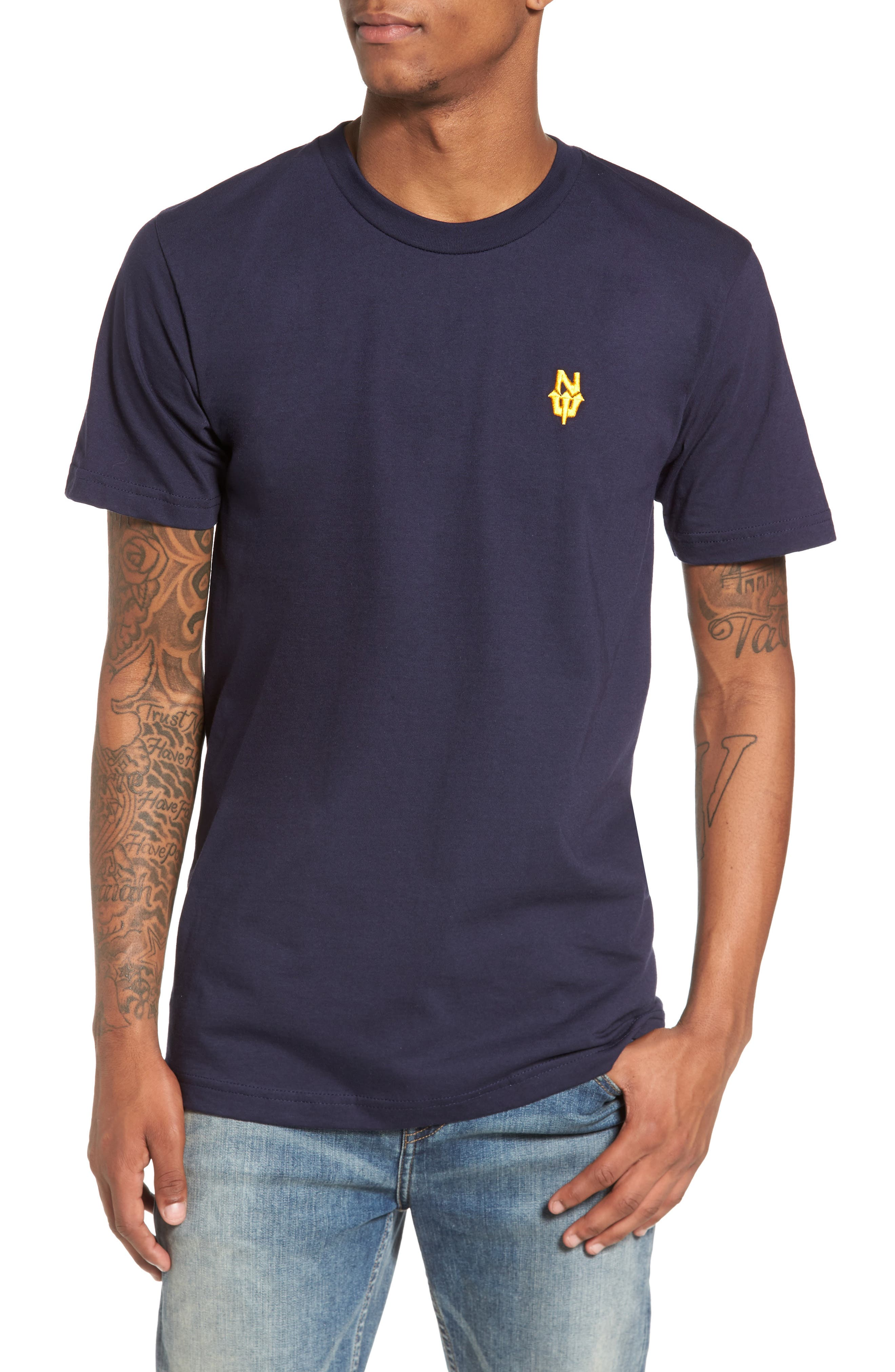 N. Dub T-Shirt,                         Main,                         color, Navy Blue