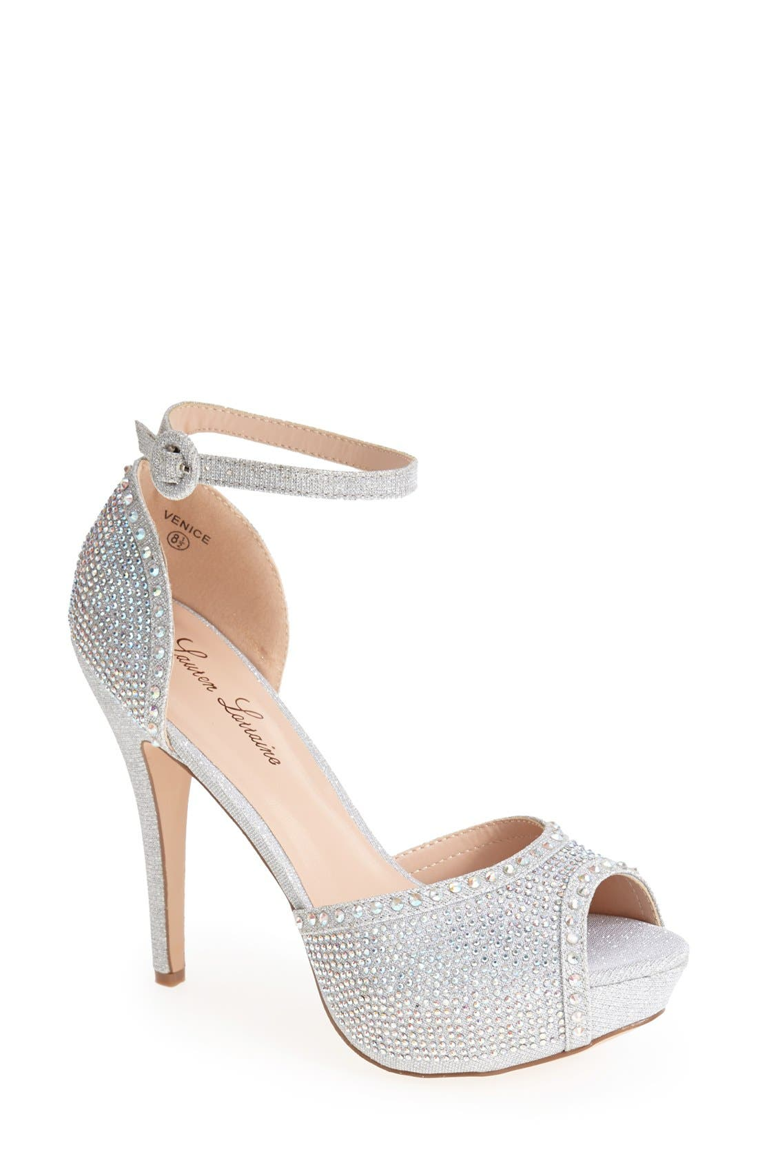 Alternate Image 1 Selected - Lauren Lorraine 'Venice' Ankle Strap Platform Sandal (Women)