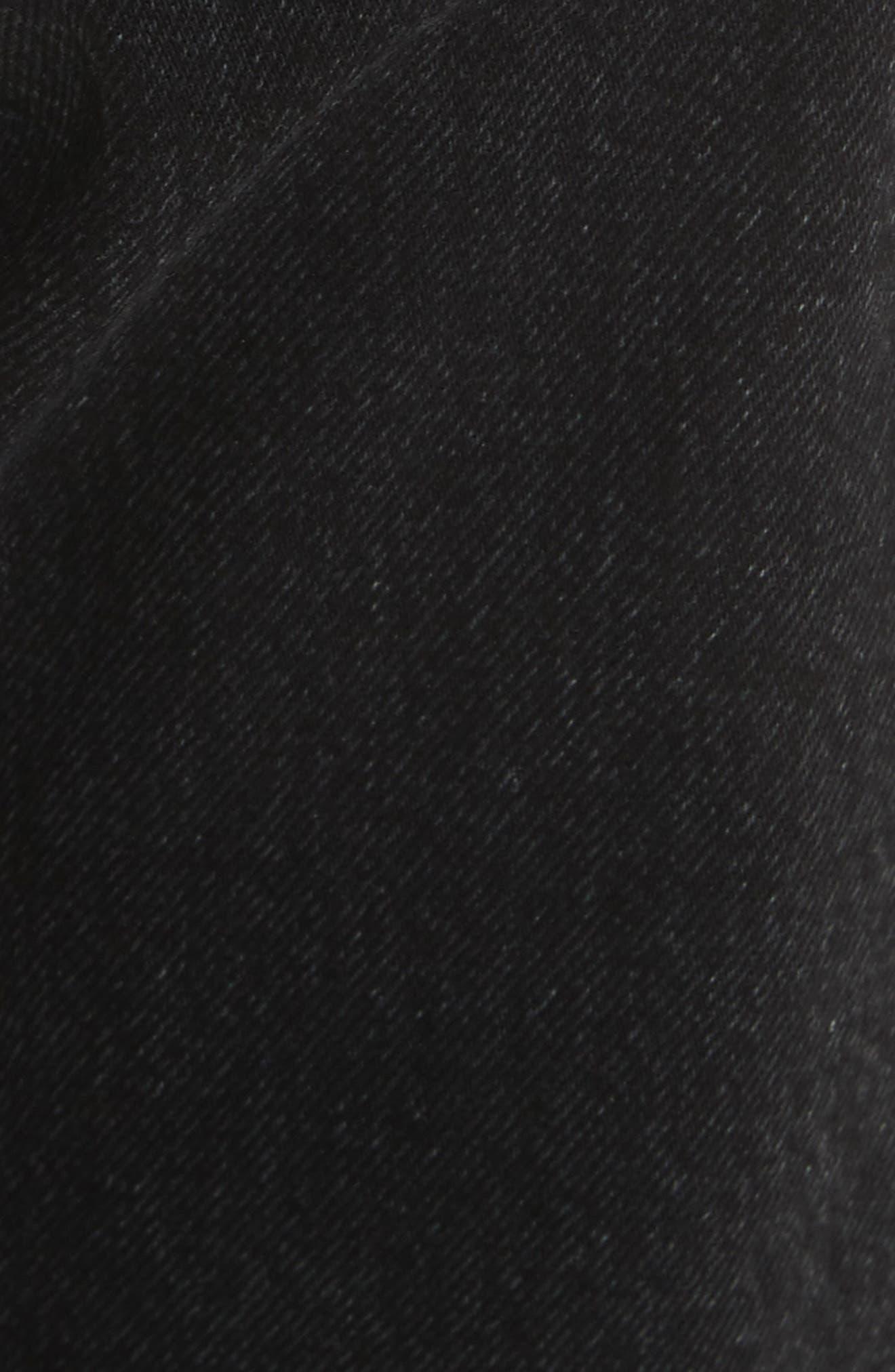 Belted Jeans,                             Alternate thumbnail 5, color,                             Black Vintage Bla