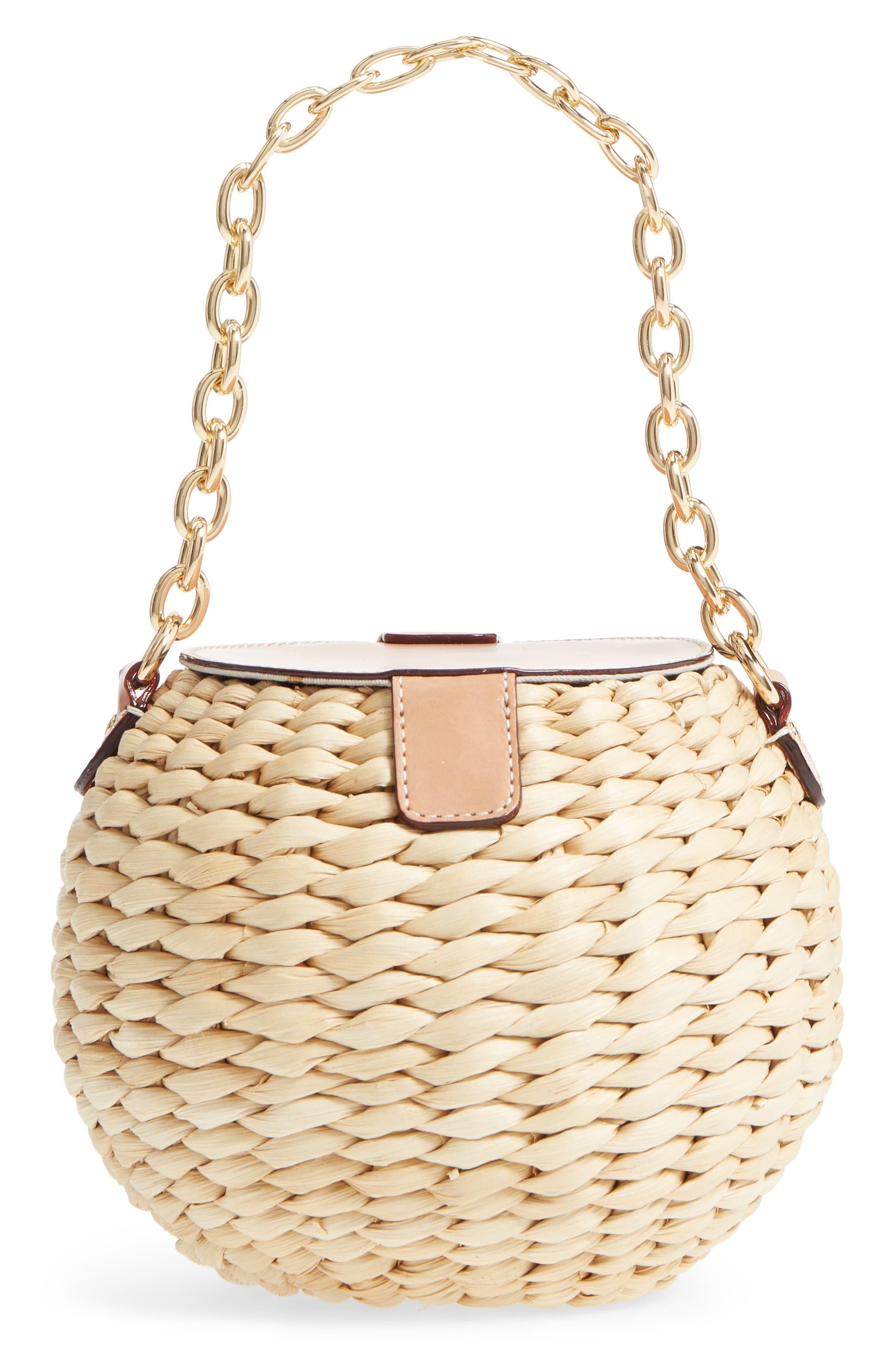 Alternate Image 3  - Frances Valentine Mini Woven Bucket Bag