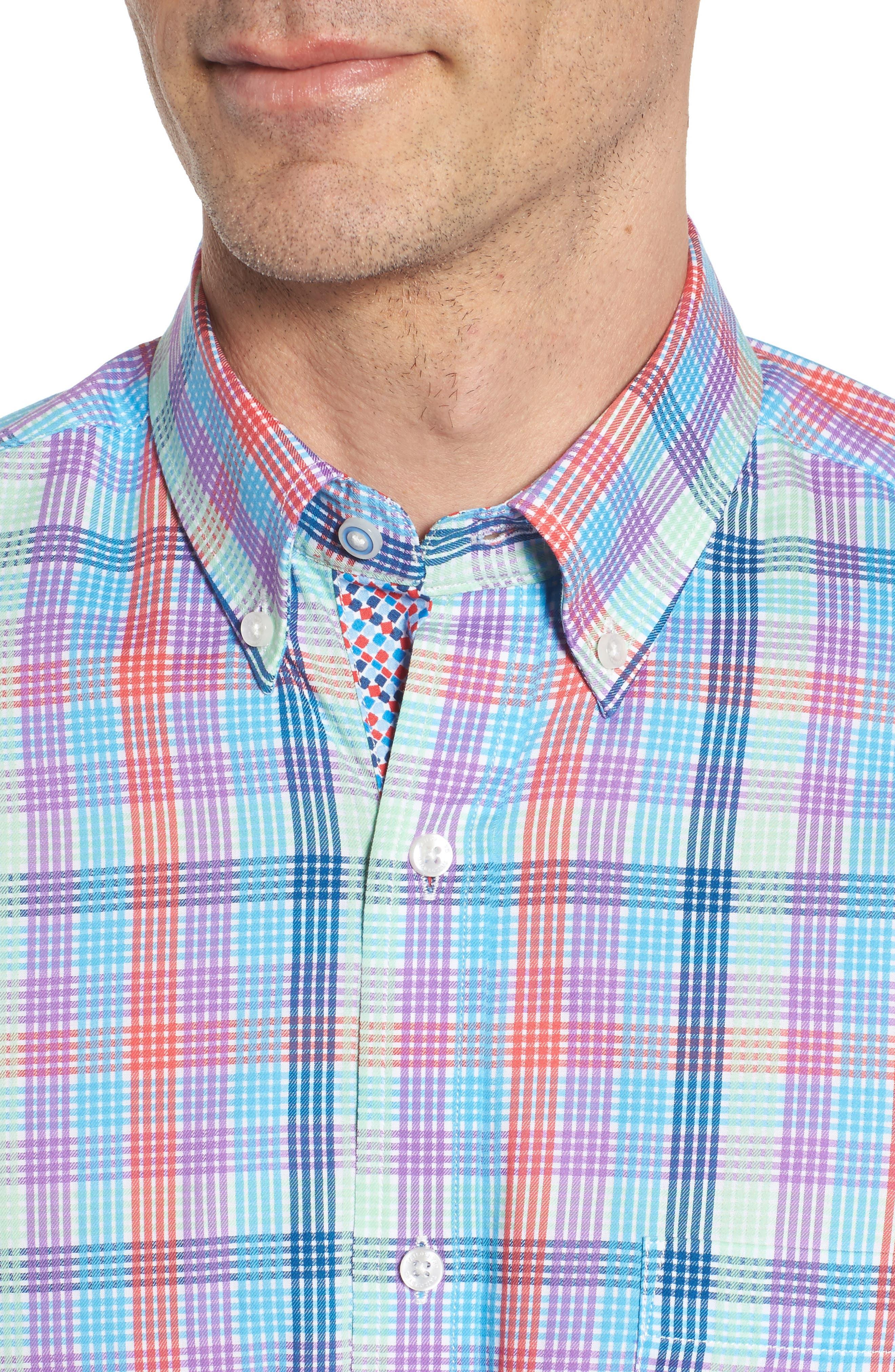 Alternate Image 4  - TailorByrd Slidell Regular Fit Check Sport Shirt