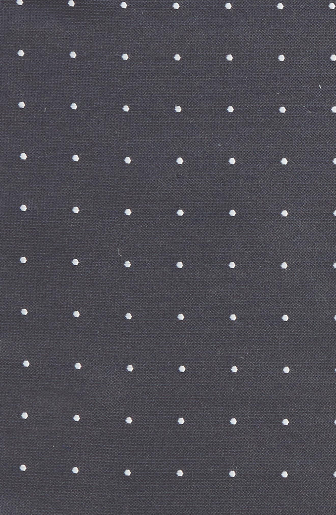 Dot Silk Pocket Square,                             Alternate thumbnail 3, color,                             Charcoal