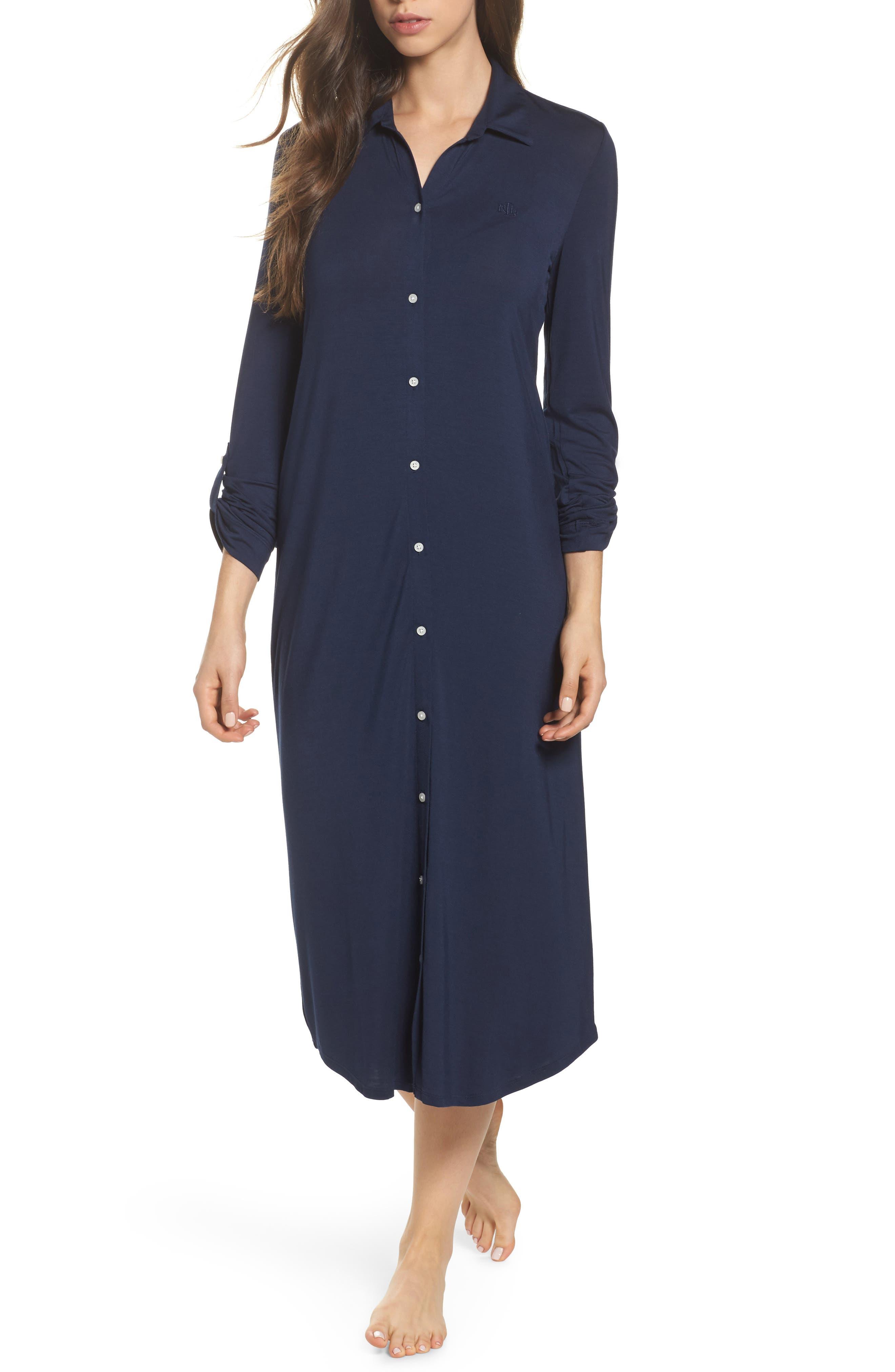 Main Image - Lauren Ralph Lauren Ballet Long Nightgown