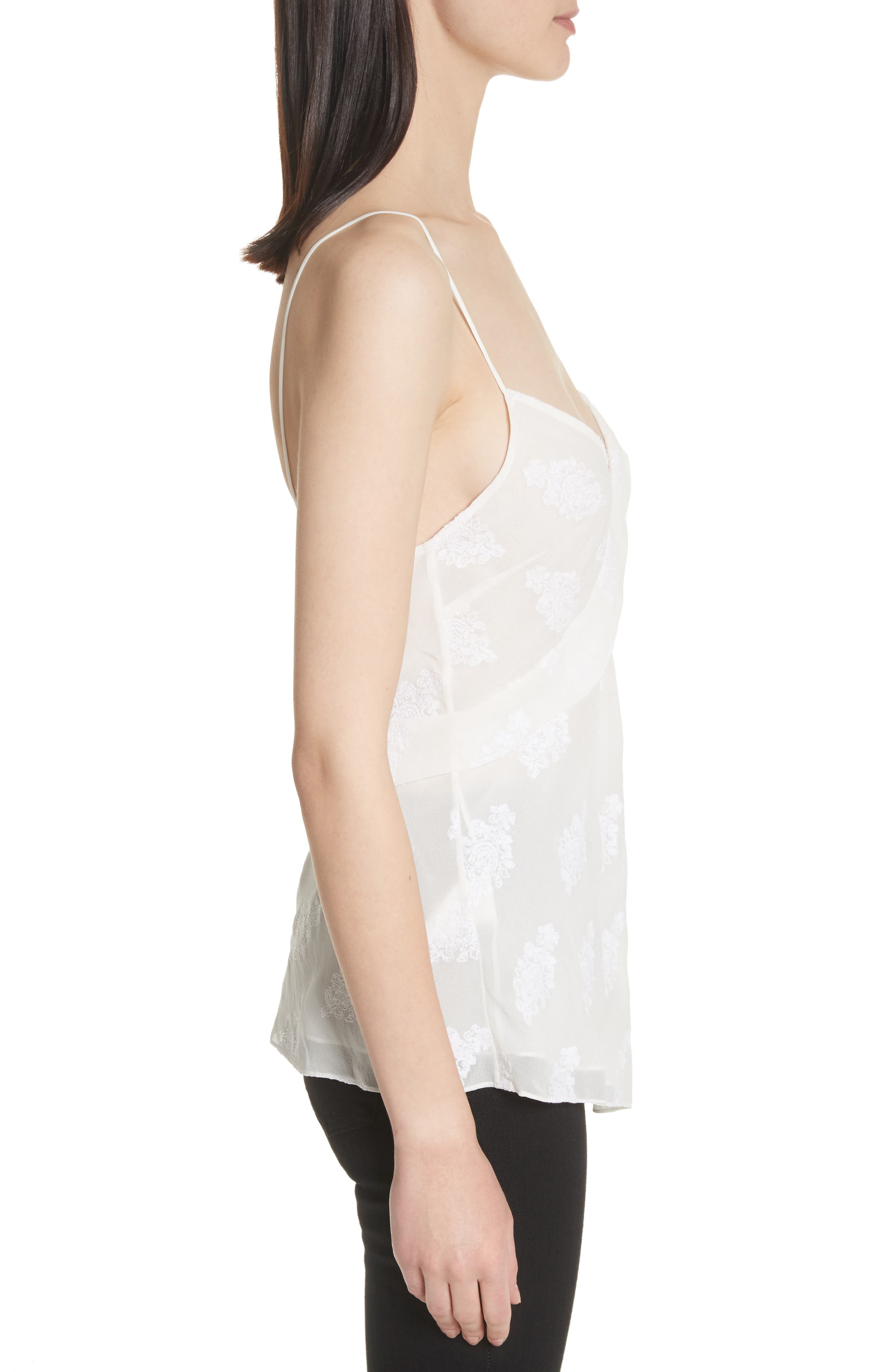 C2.Co Crossover Camisole,                             Alternate thumbnail 3, color,                             White/ White