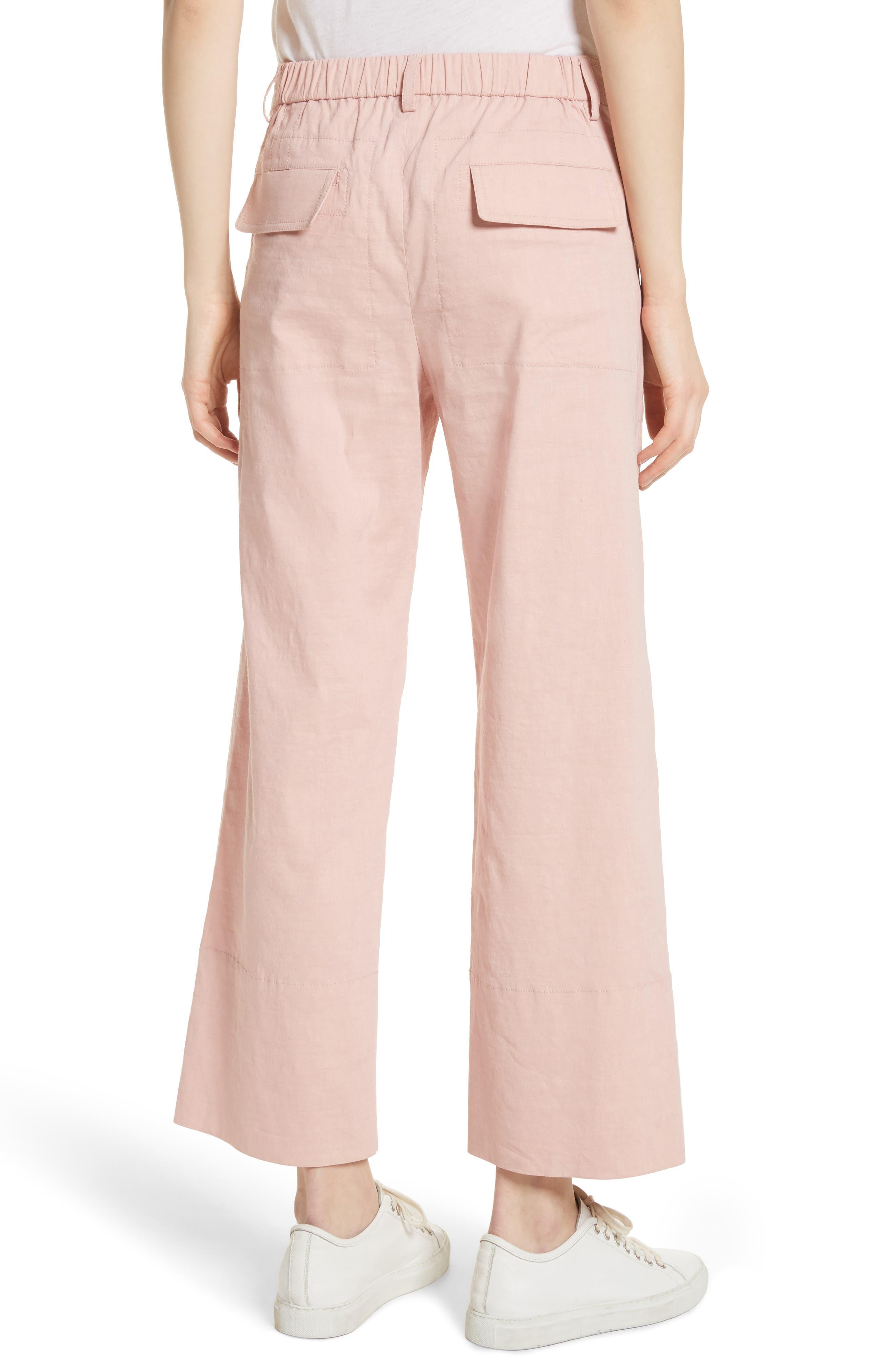 Fluid Wide Leg Crop Pants,                             Alternate thumbnail 2, color,                             Pink Ballet