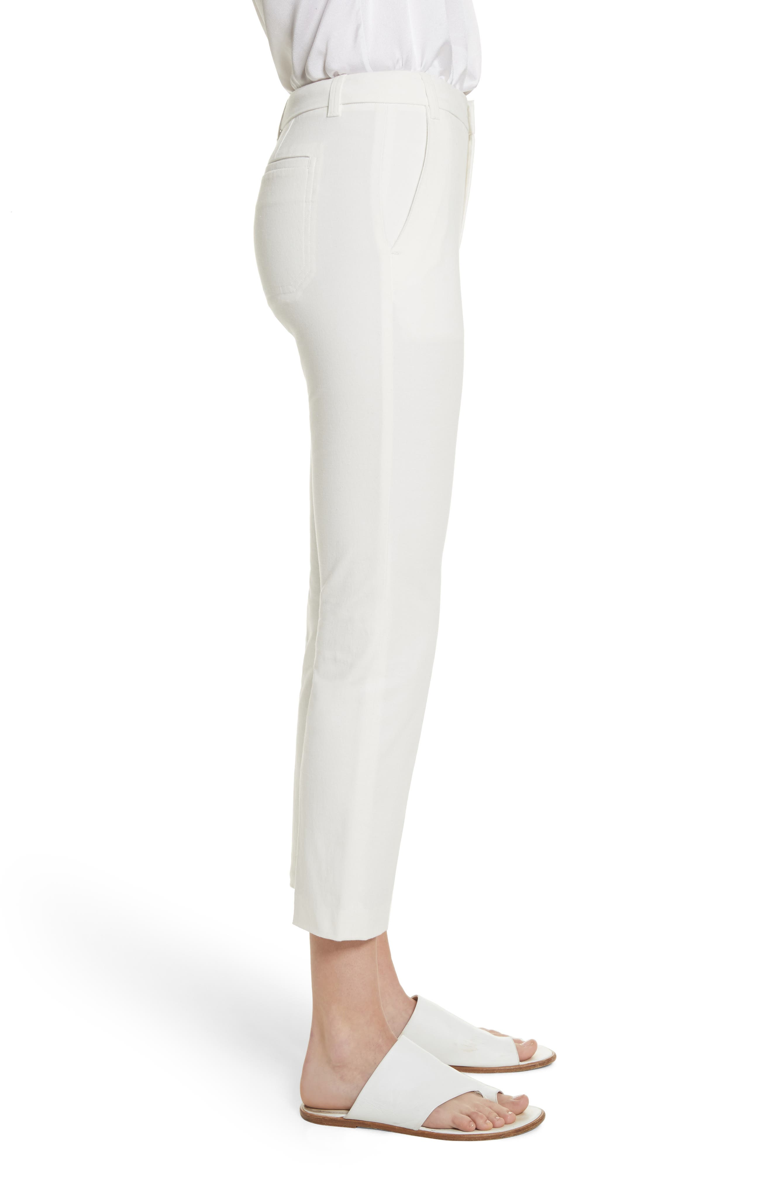 Crop Chino Pants,                             Alternate thumbnail 3, color,                             Off White