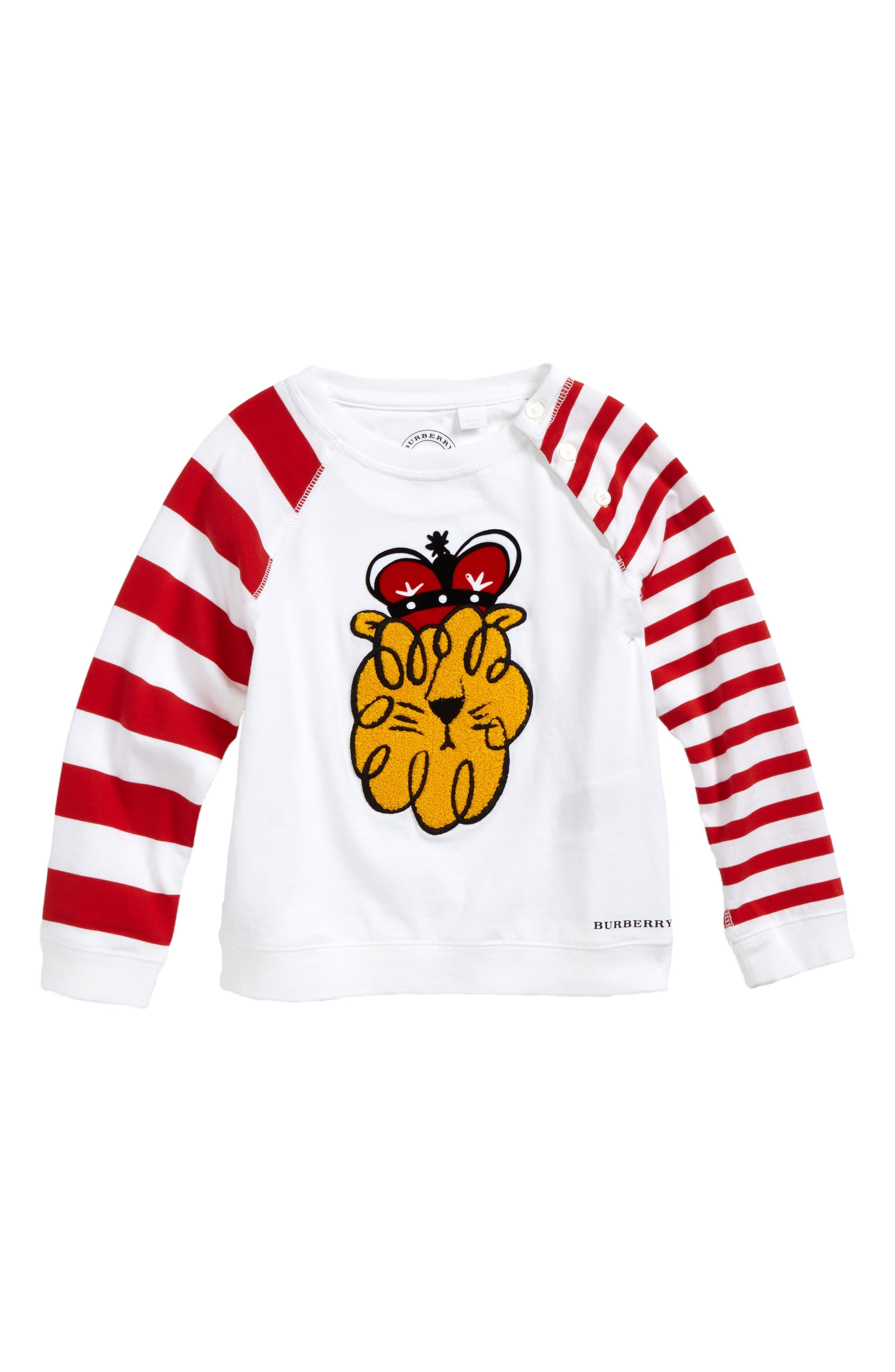 Burberry Lion Stripe Tee (Baby Boys)
