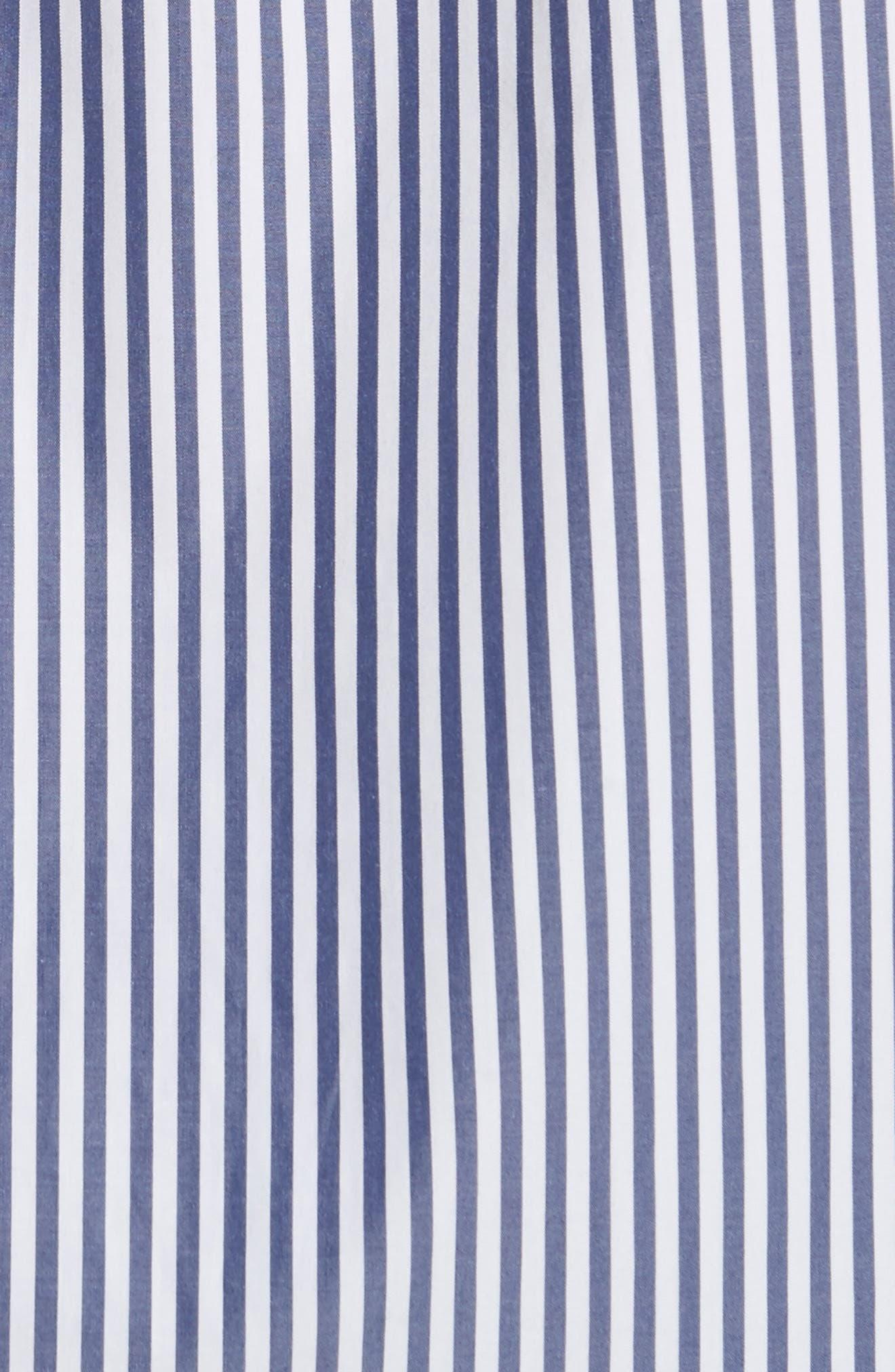 Essential Button Down Cotton Shirt,                             Alternate thumbnail 5, color,                             Blue/ White