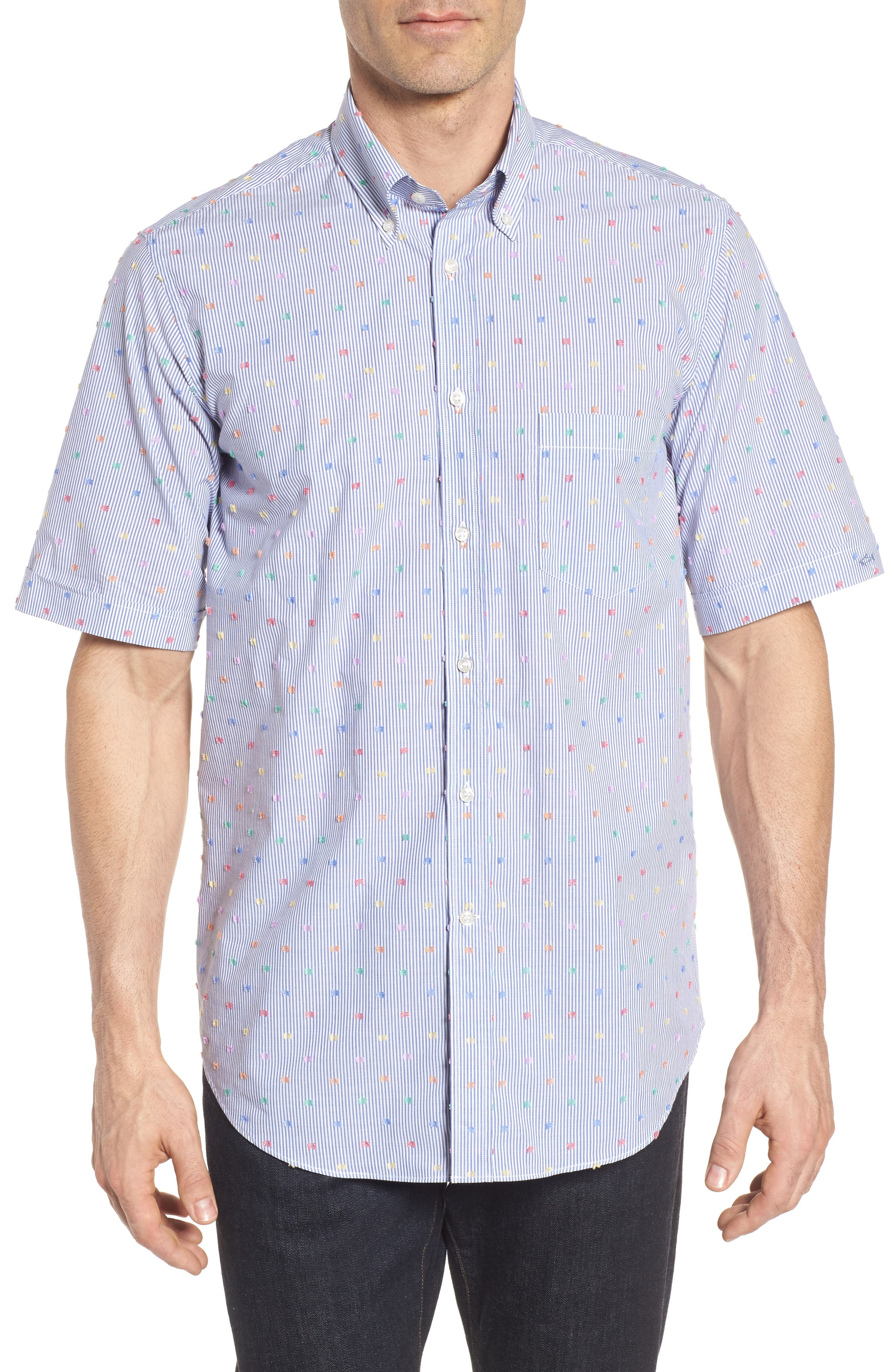 Paul & Shark Fin Stripe Sport Shirt