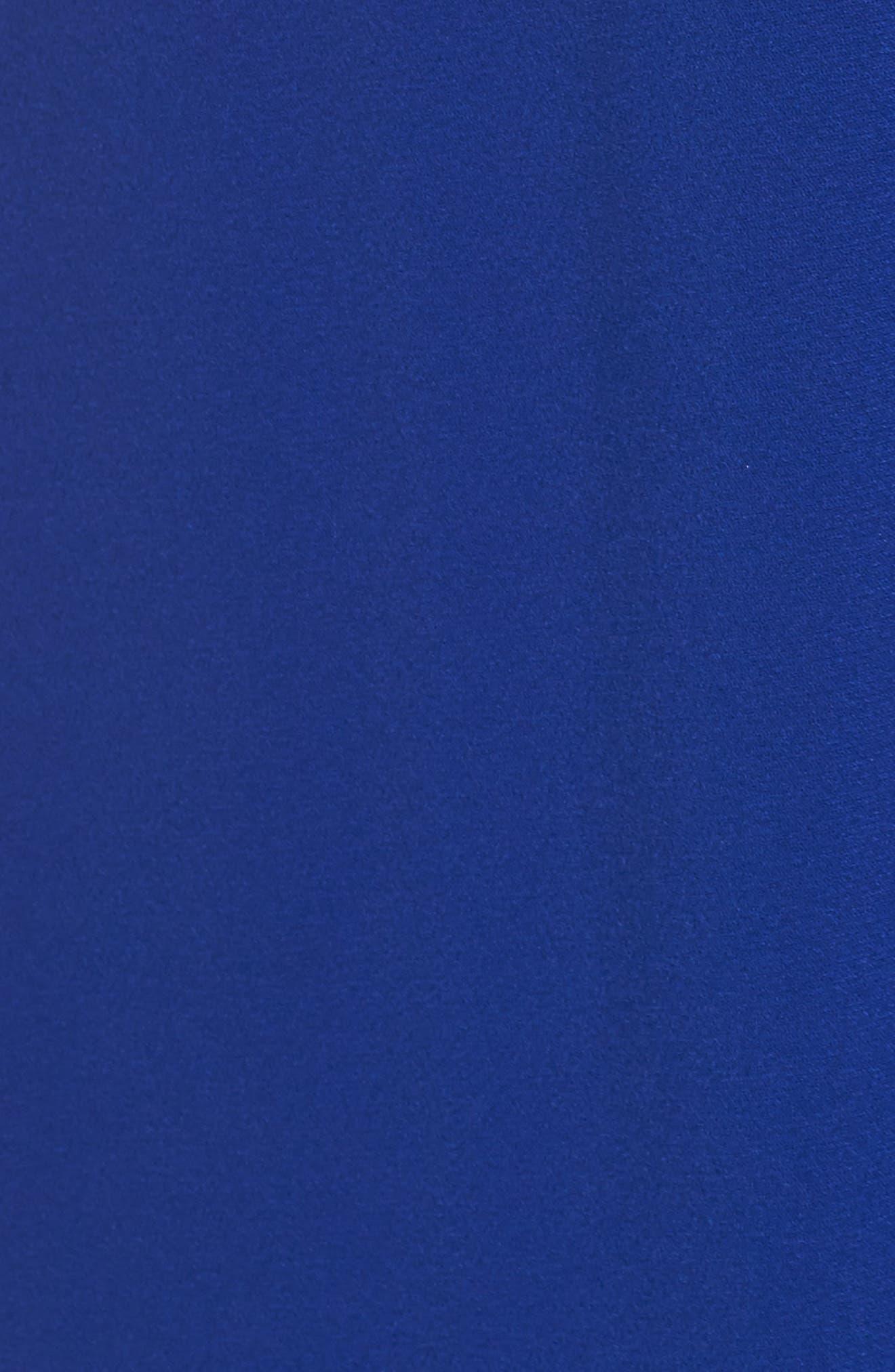 Cutout Crepe Gown,                             Alternate thumbnail 5, color,                             China Blue