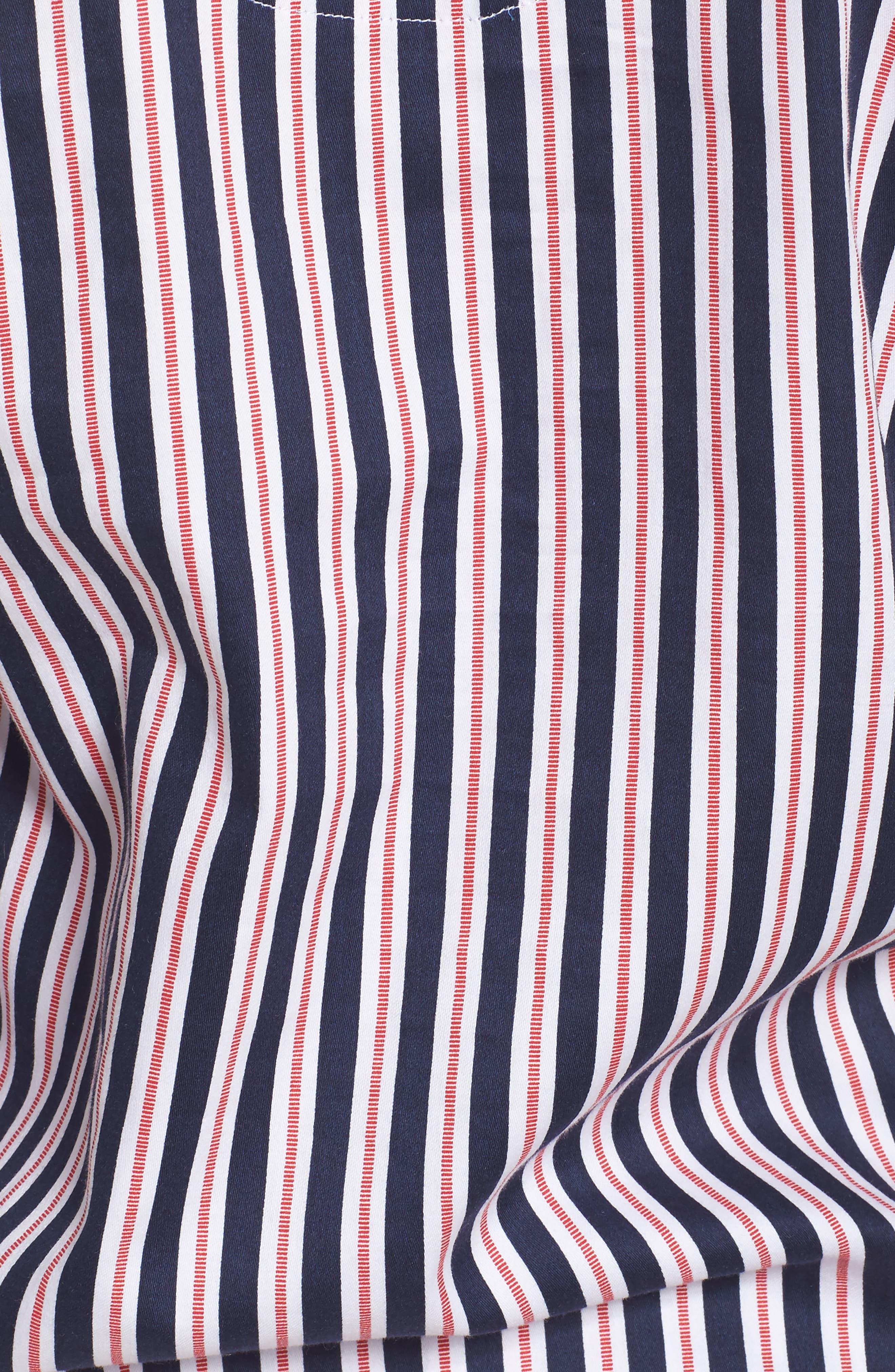 Sateen Pajamas,                             Alternate thumbnail 6, color,                             Navy Stripe