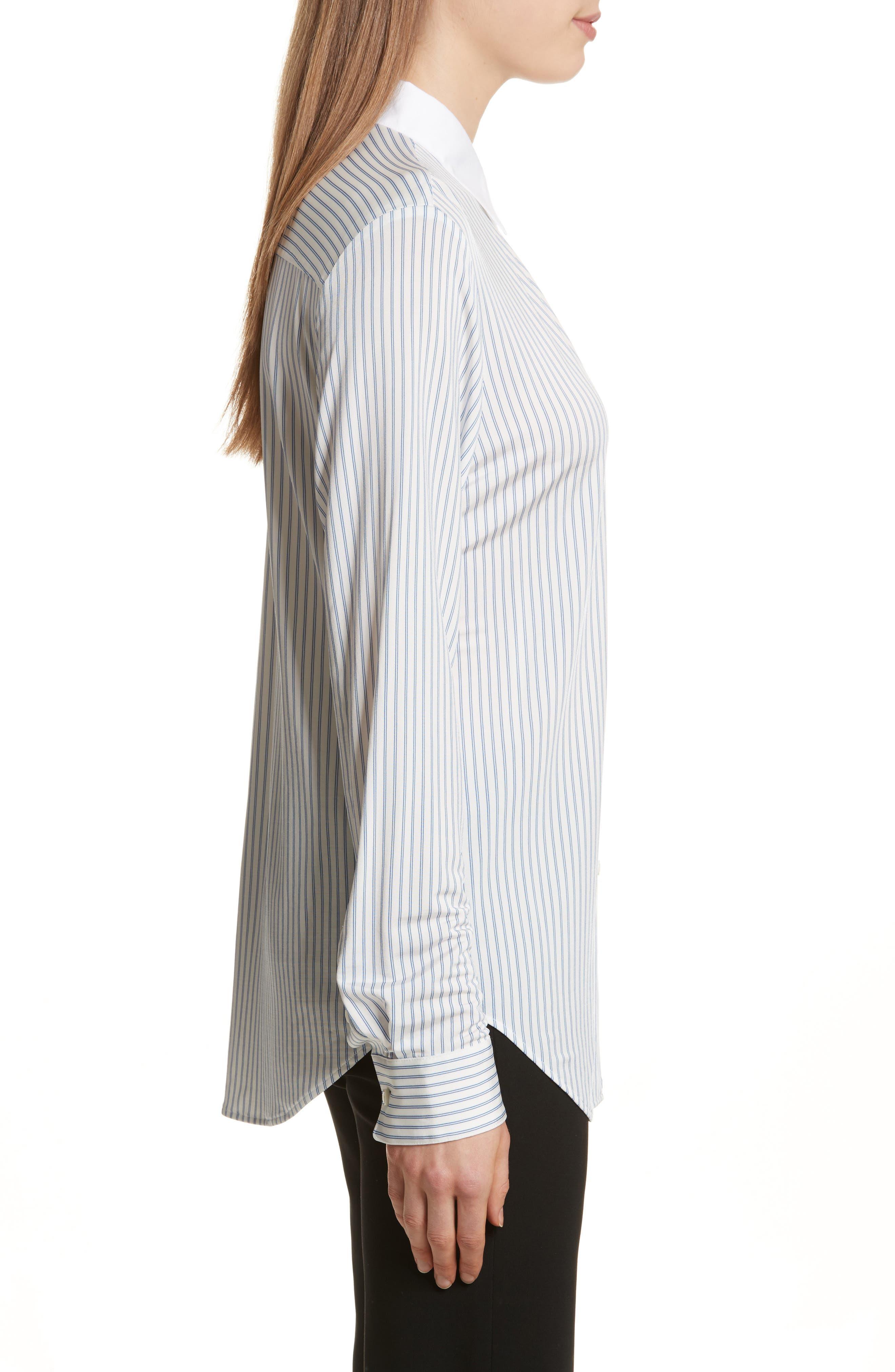 Alternate Image 3  - Theory Essential Stripe Jersey Shirt
