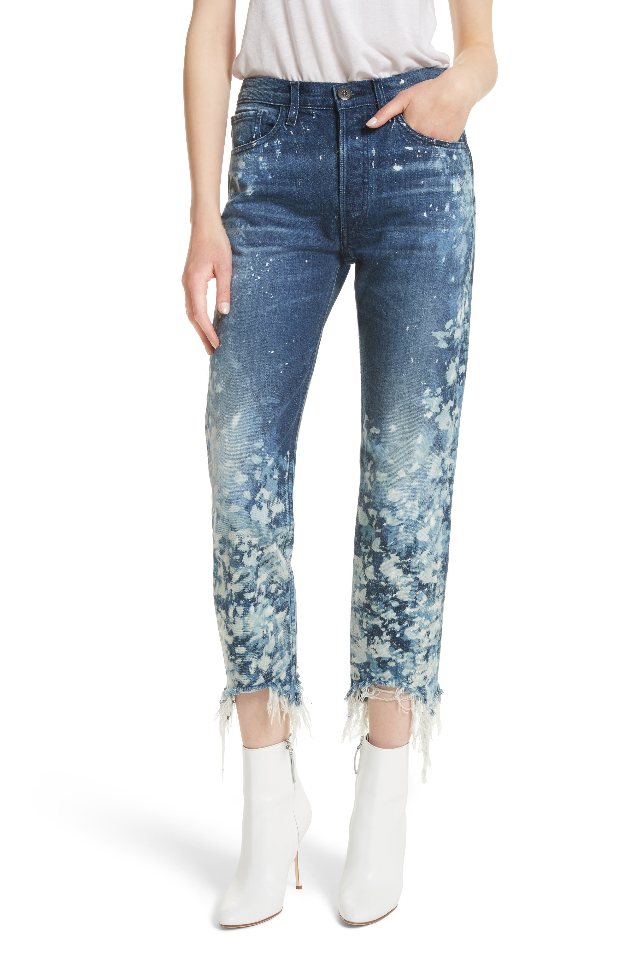 W3 Higher Ground Bleached Ankle Slim Fit Jeans,                             Main thumbnail 1, color,                             Stardust