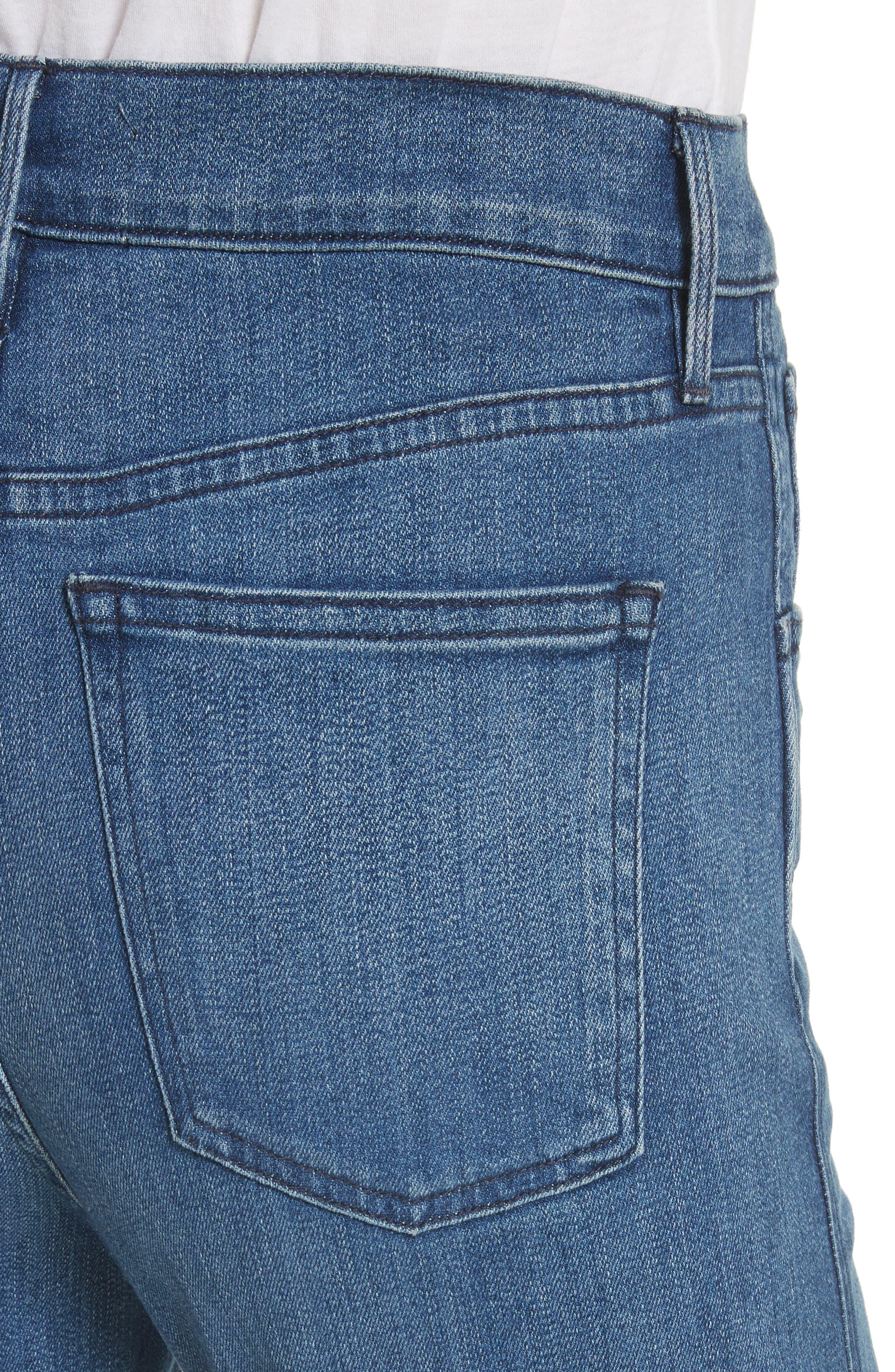 W4 Adeline High Waist Split Flare Jeans,                             Alternate thumbnail 4, color,                             Leia