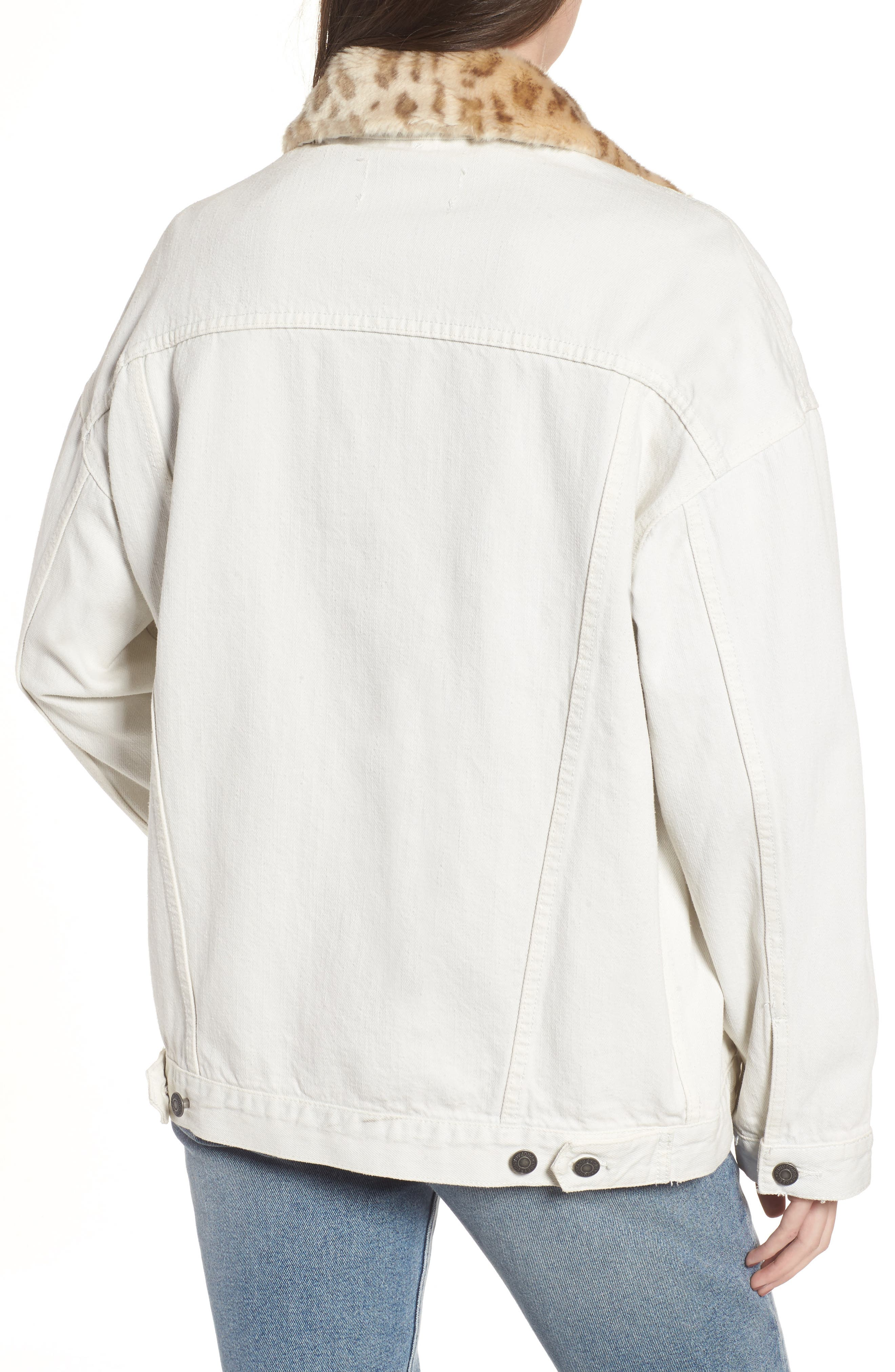 Alternate Image 2  - Obey Wily Rider Jacket with Removable Faux Fur Collar