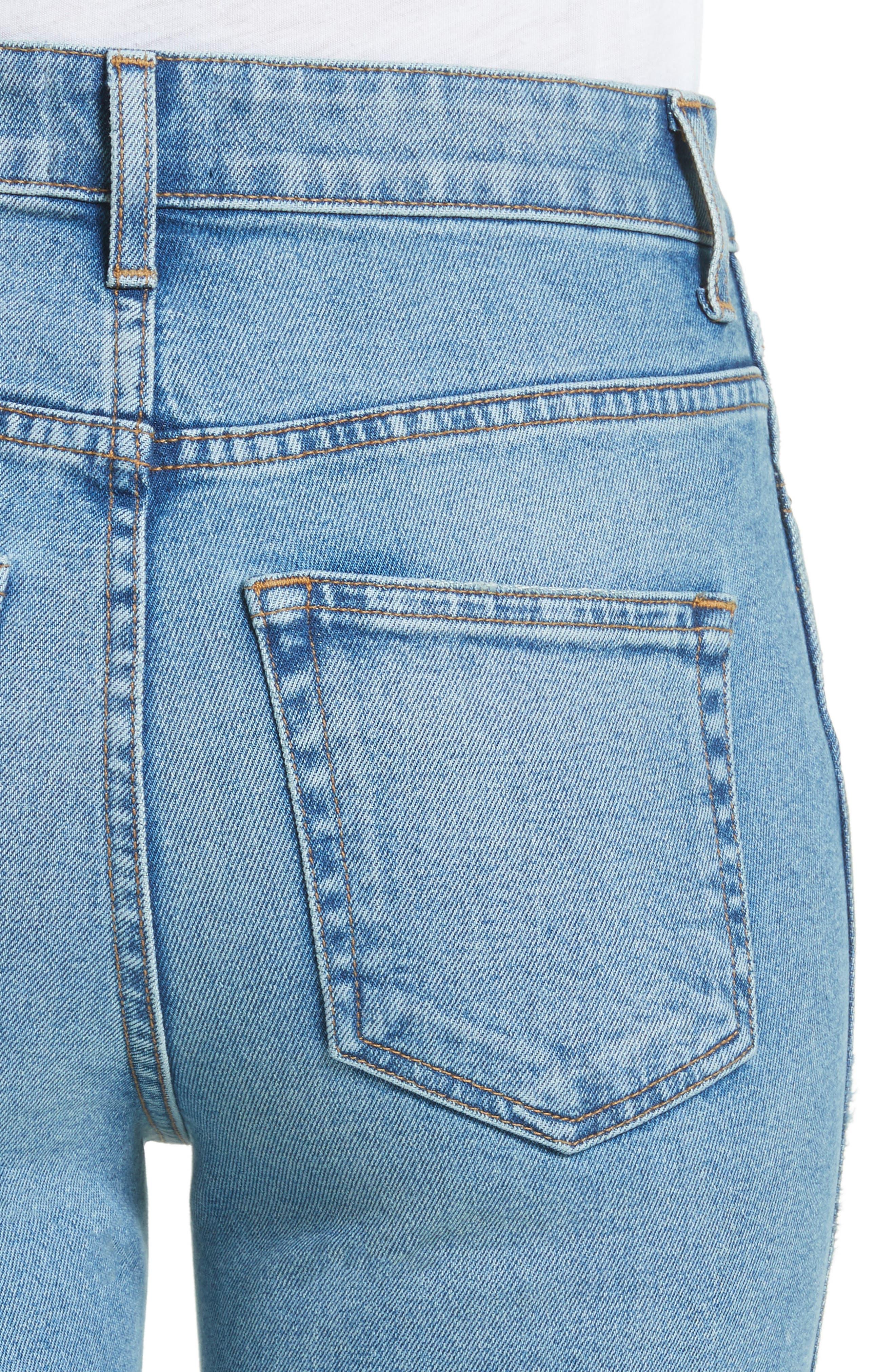 Victoria Straight Leg Jeans,                             Alternate thumbnail 6, color,                             Medium Crease