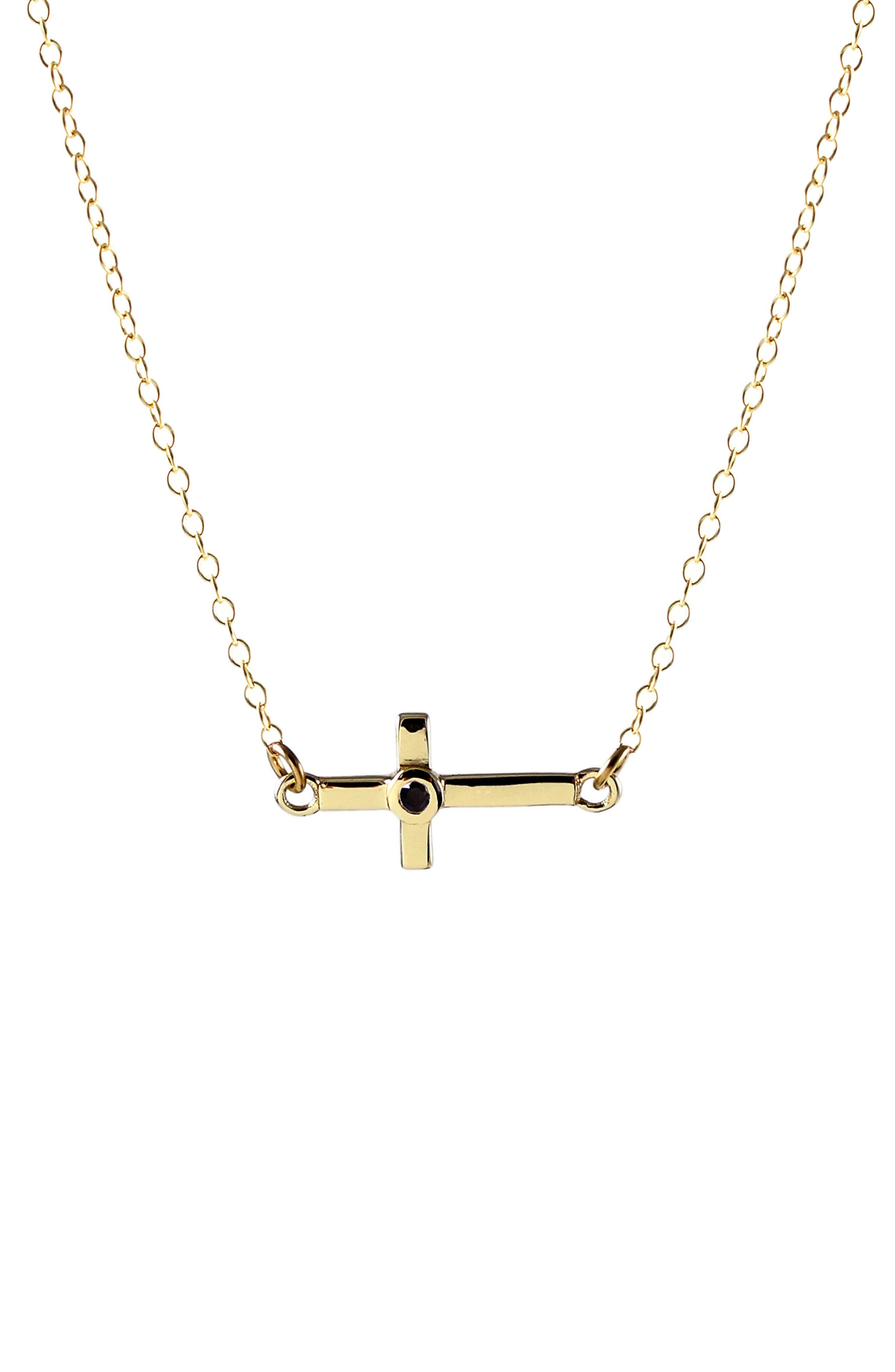 Kris Nations Stone Cross Charm Necklace
