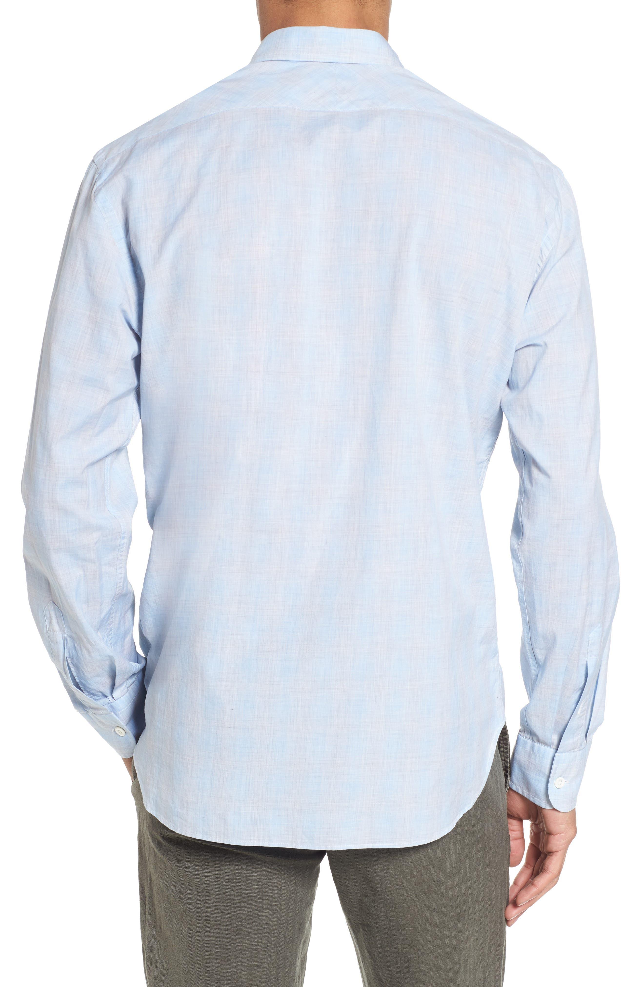 John T Slim Fit Sport Shirt,                             Alternate thumbnail 3, color,                             Light Blue
