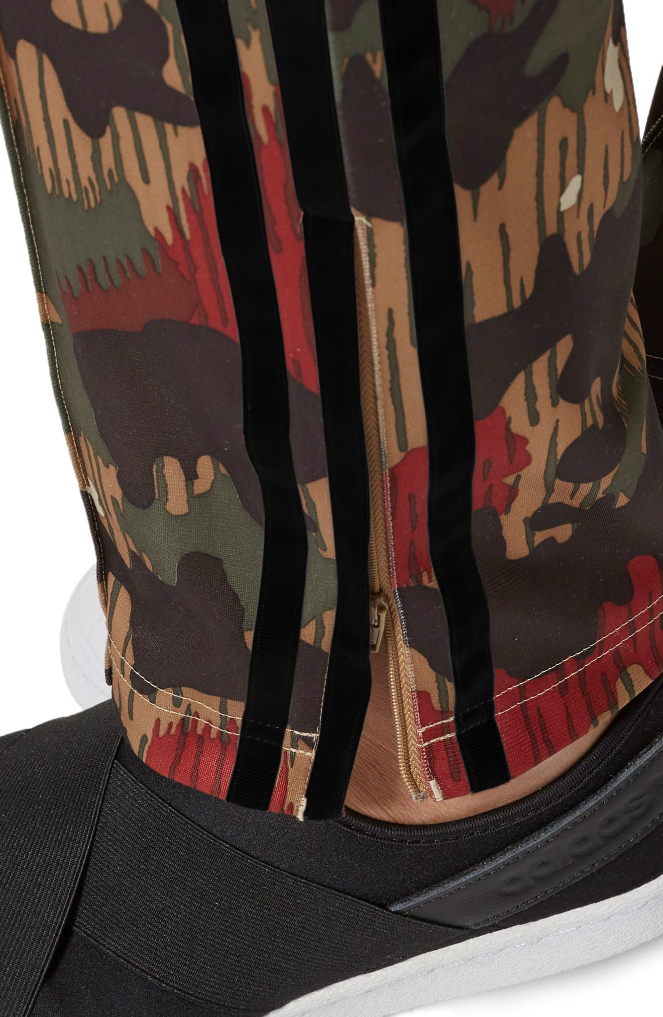 Originals Pharrell Williams Hu Hiking Pants,                             Alternate thumbnail 5, color,                             Swiss Camo
