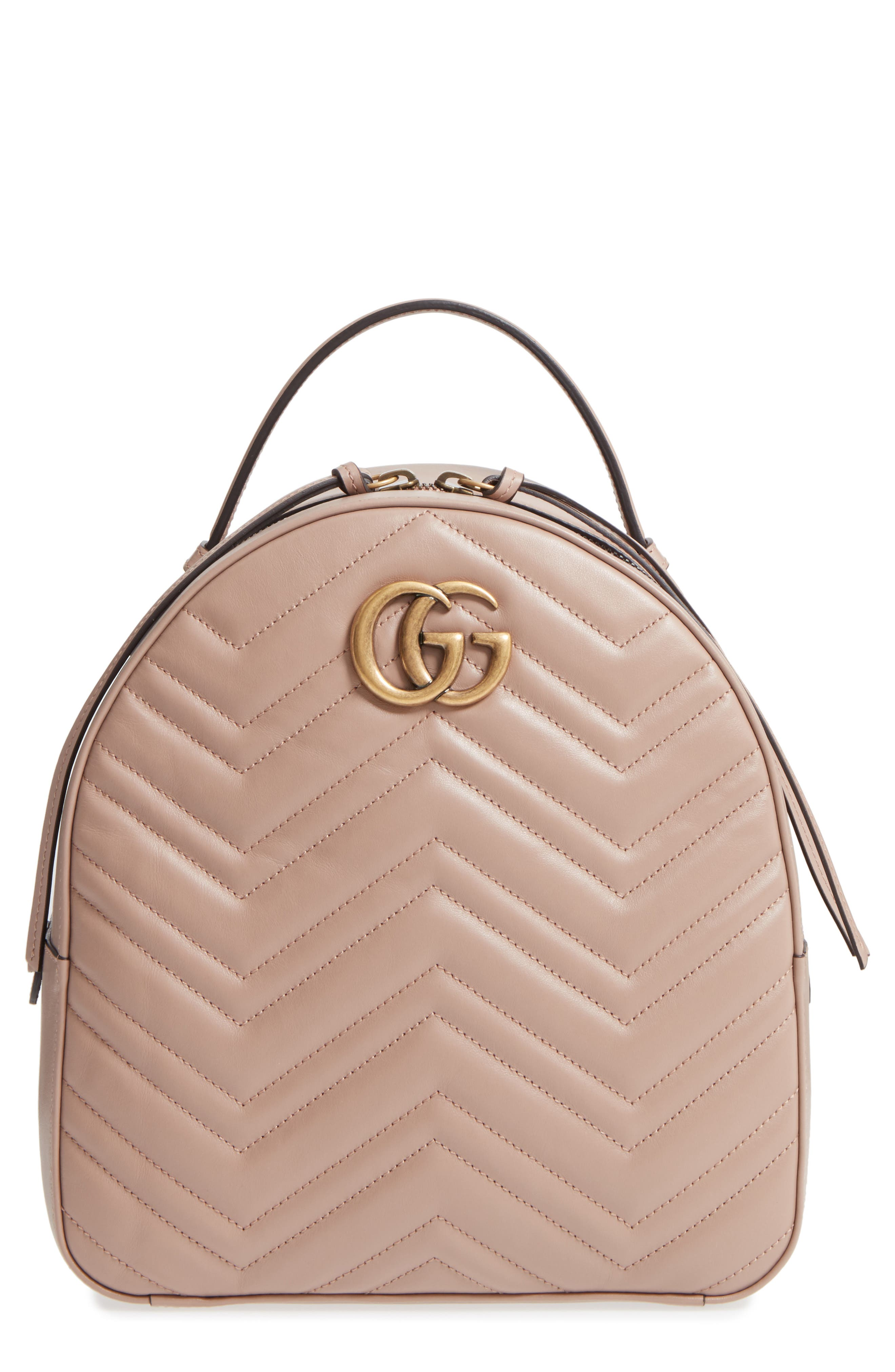 Gucci GG Marmont Matelassé Quilted Leather Backpack