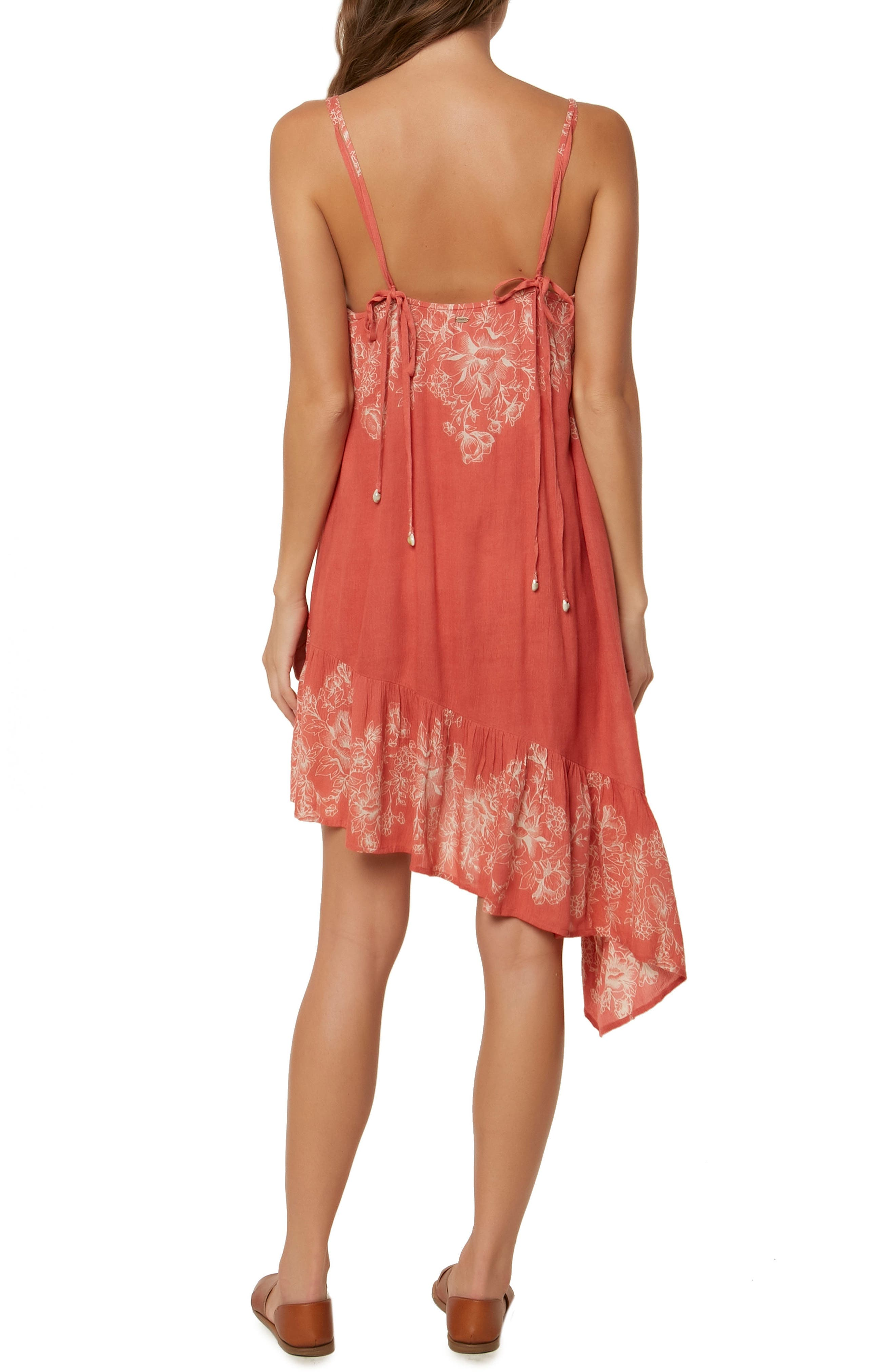 Rosella Asymmetrical Dress,                             Alternate thumbnail 2, color,                             Faded Rose