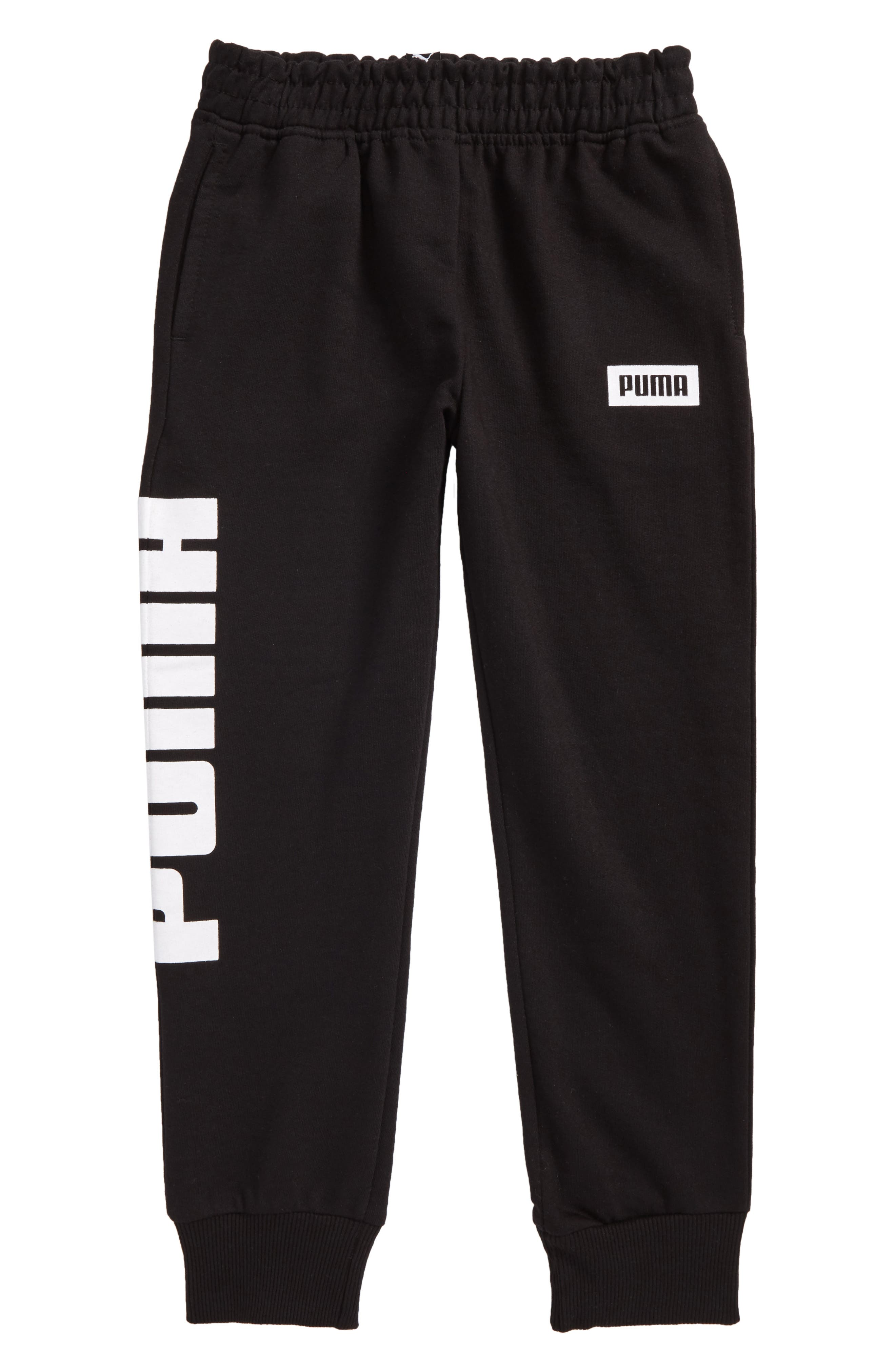 Rebel Jogger Sweatpants,                             Main thumbnail 1, color,                             Puma Black