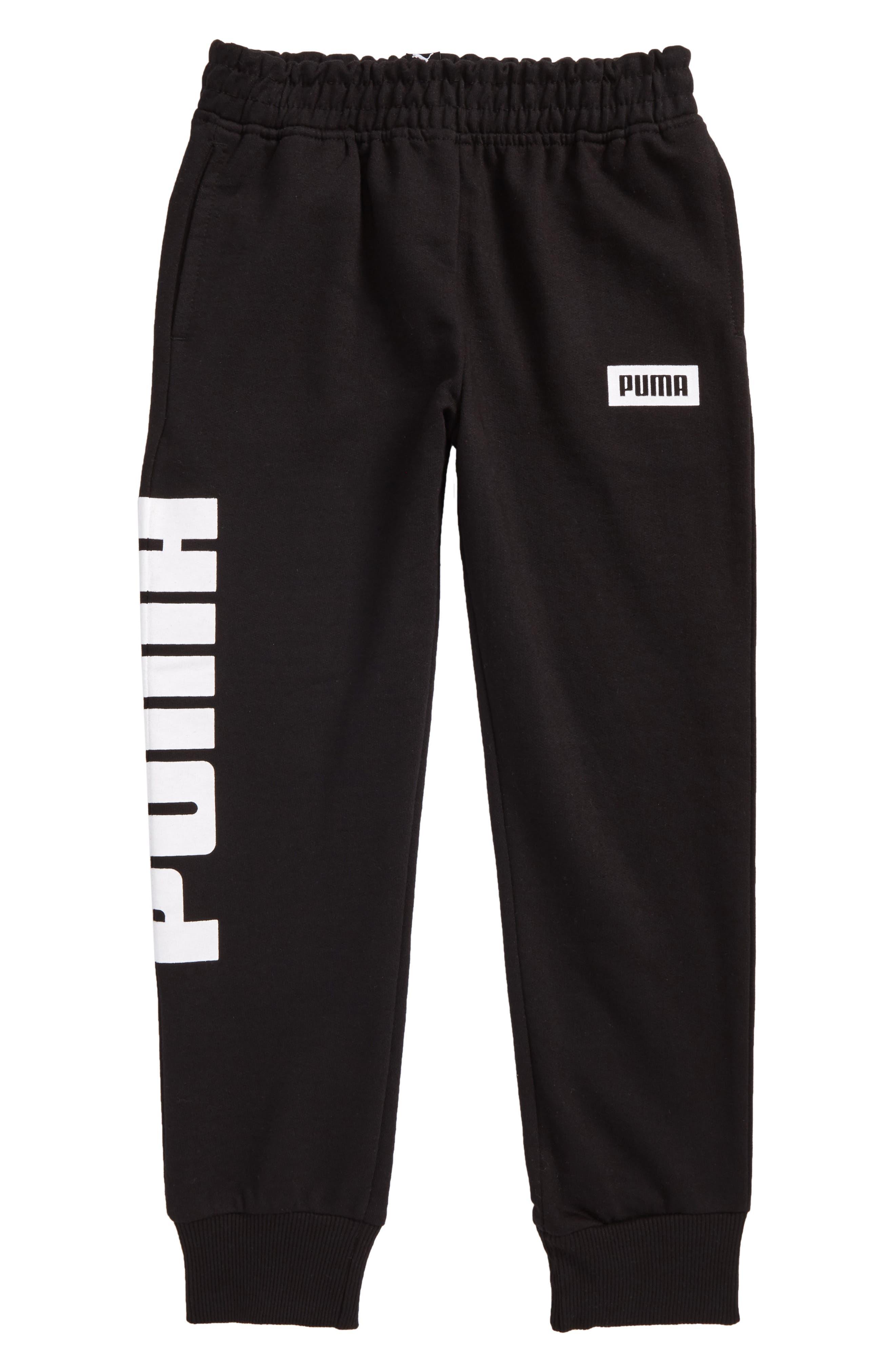 Rebel Jogger Sweatpants,                         Main,                         color, Puma Black