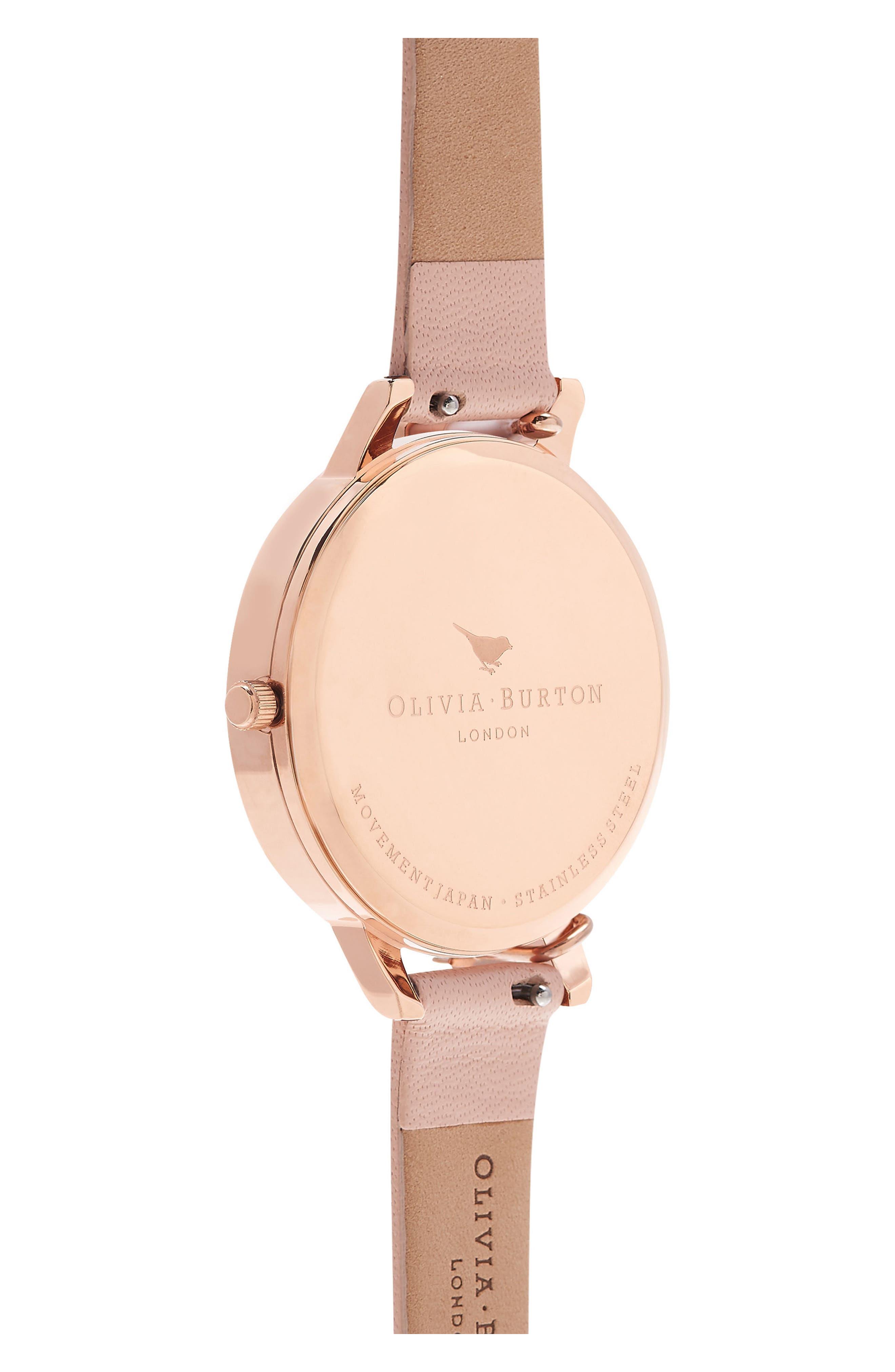 Alternate Image 4  - Olivia Burton Case Cuff Leather Strap Watch, 38mm (Nordstrom Exclusive)