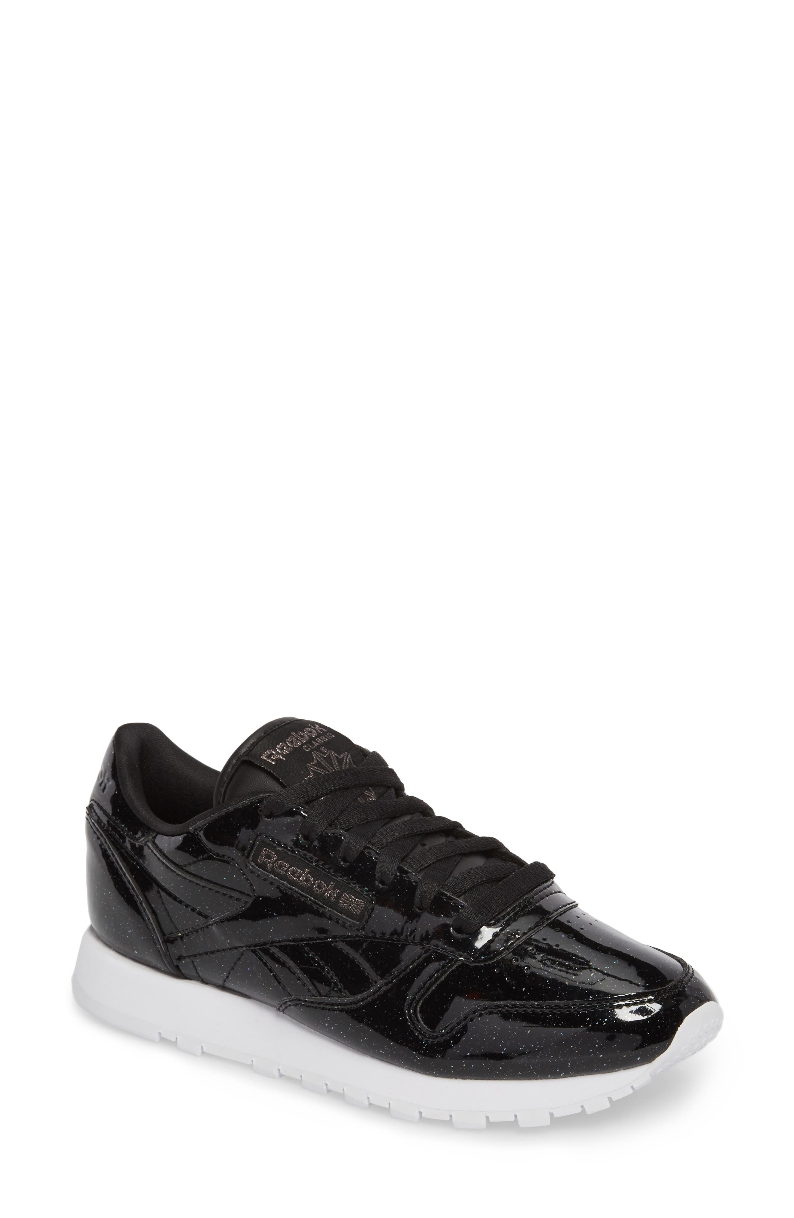 Classic Leather Sneaker,                             Main thumbnail 1, color,                             Pearl/ Black/ White