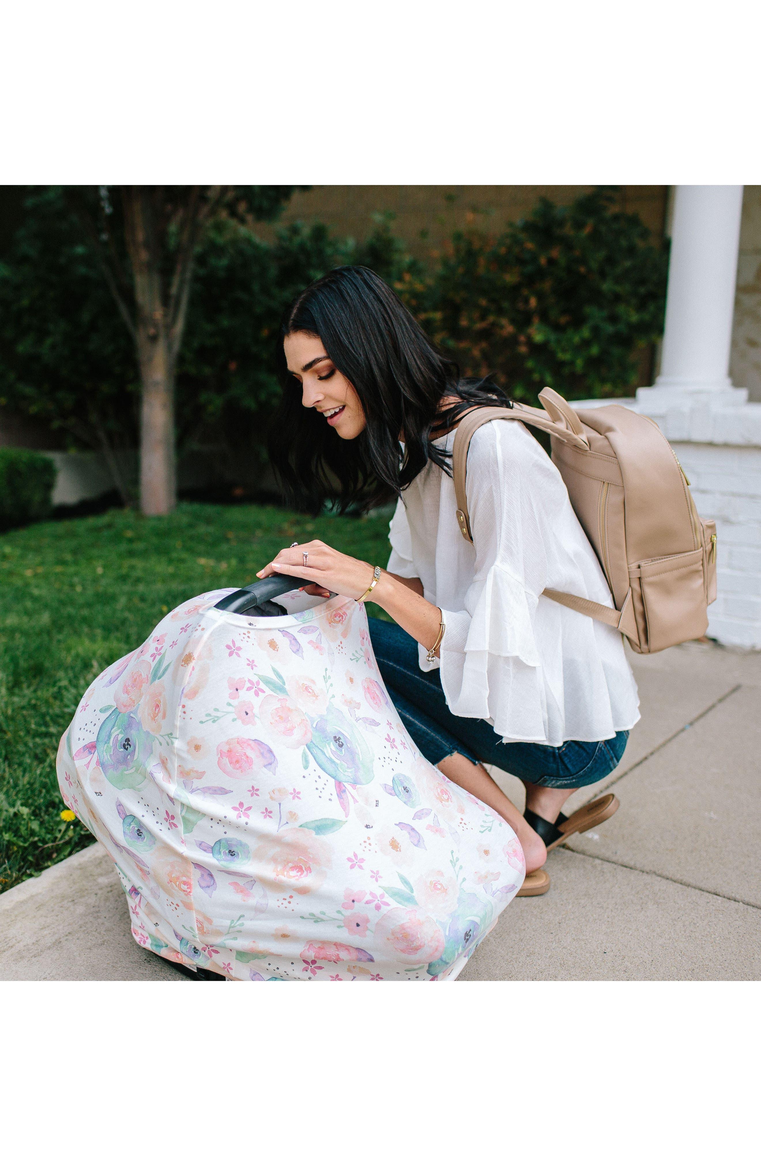 Bloom Multiuse Cover & Swaddle Blanket Gift Set,                             Alternate thumbnail 7, color,                             Bloom