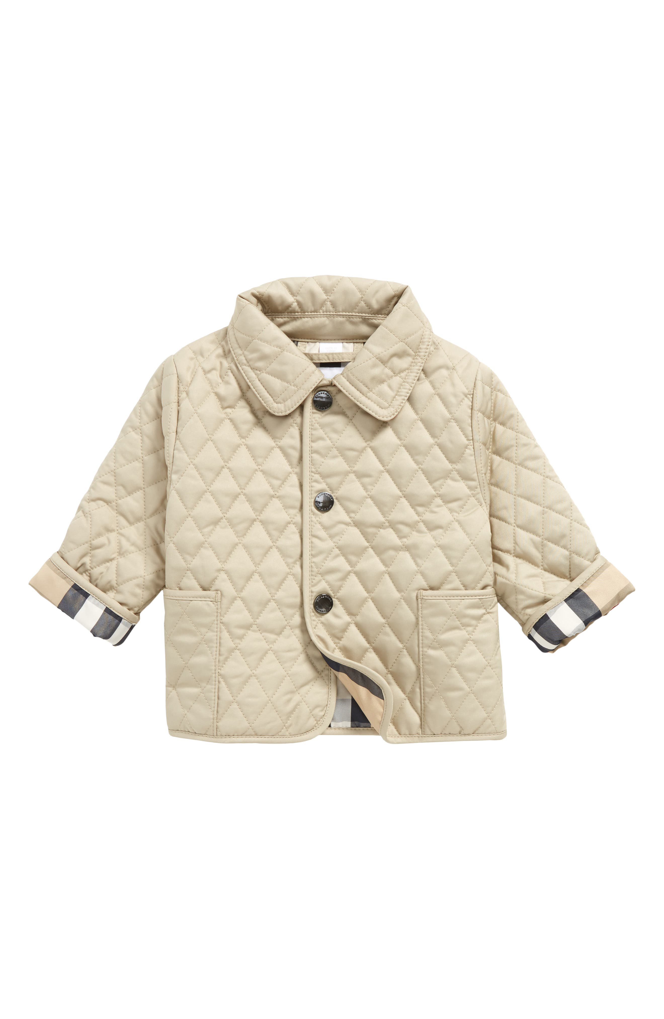 Alternate Image 1 Selected - Burberry Colin Quilted Jacket (Baby)