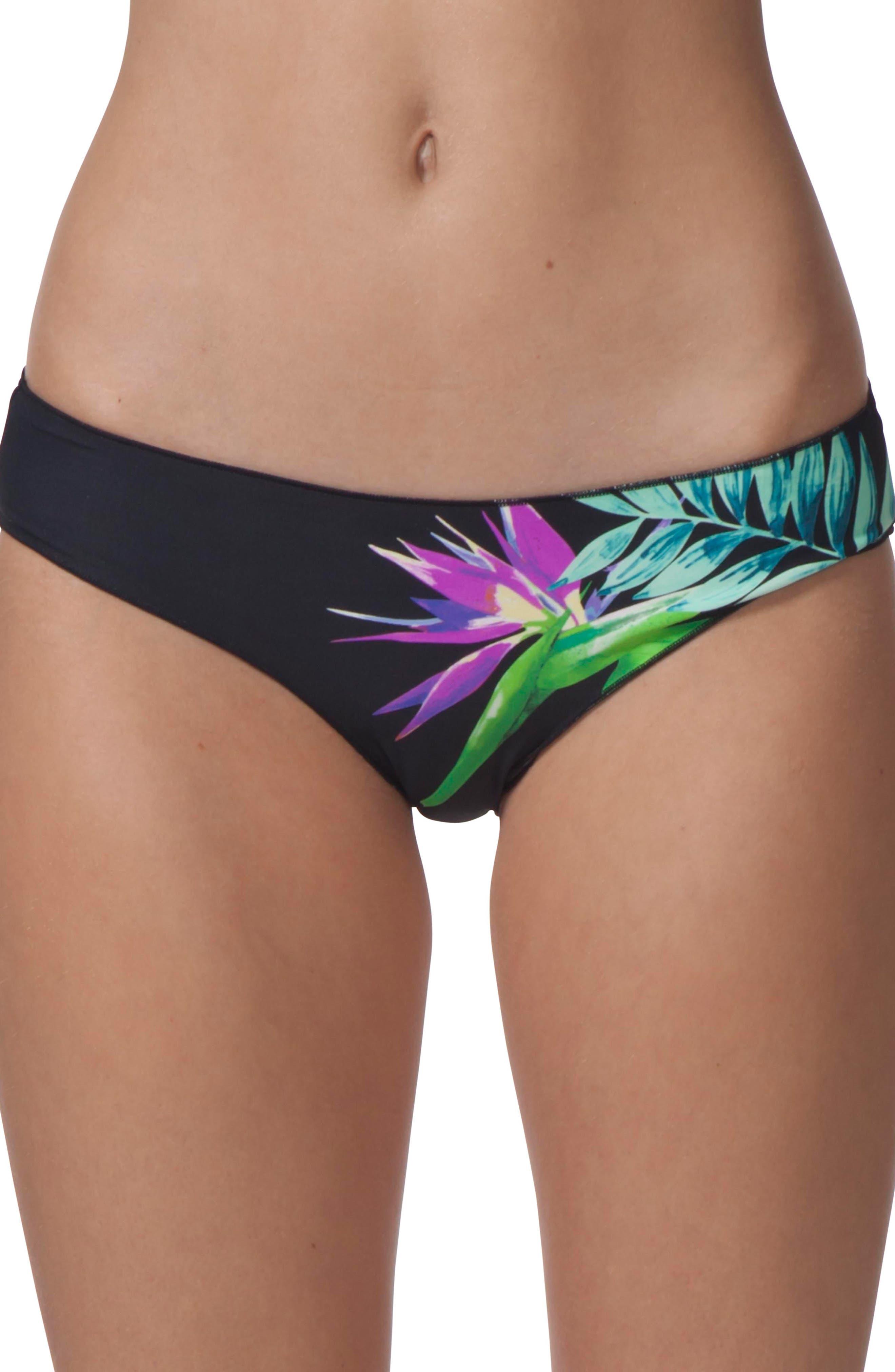 Paradise Cove Hipster Bikini Bottom,                         Main,                         color, Black