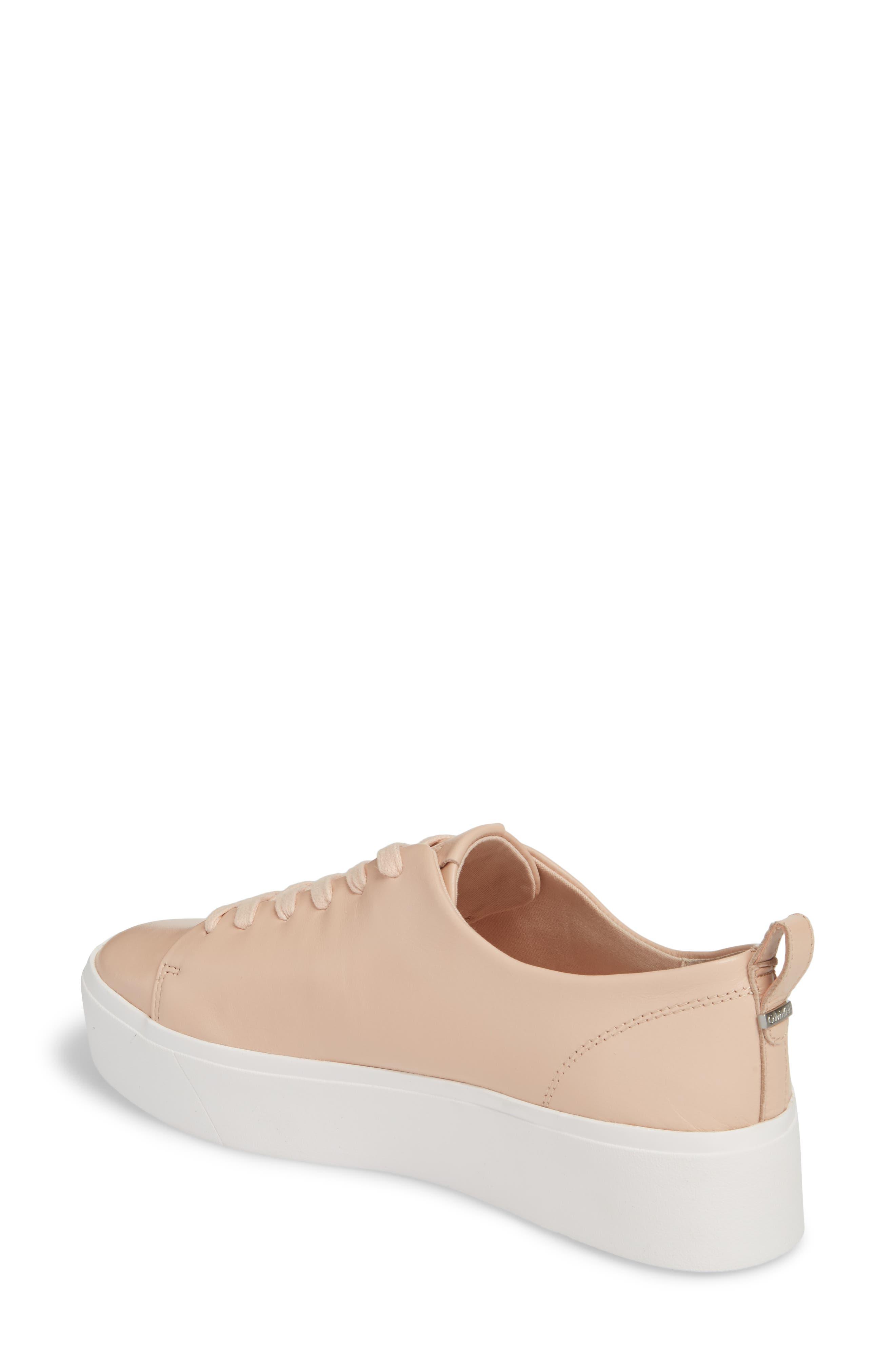 Janet Platform Sneaker,                             Alternate thumbnail 2, color,                             Pink Leather