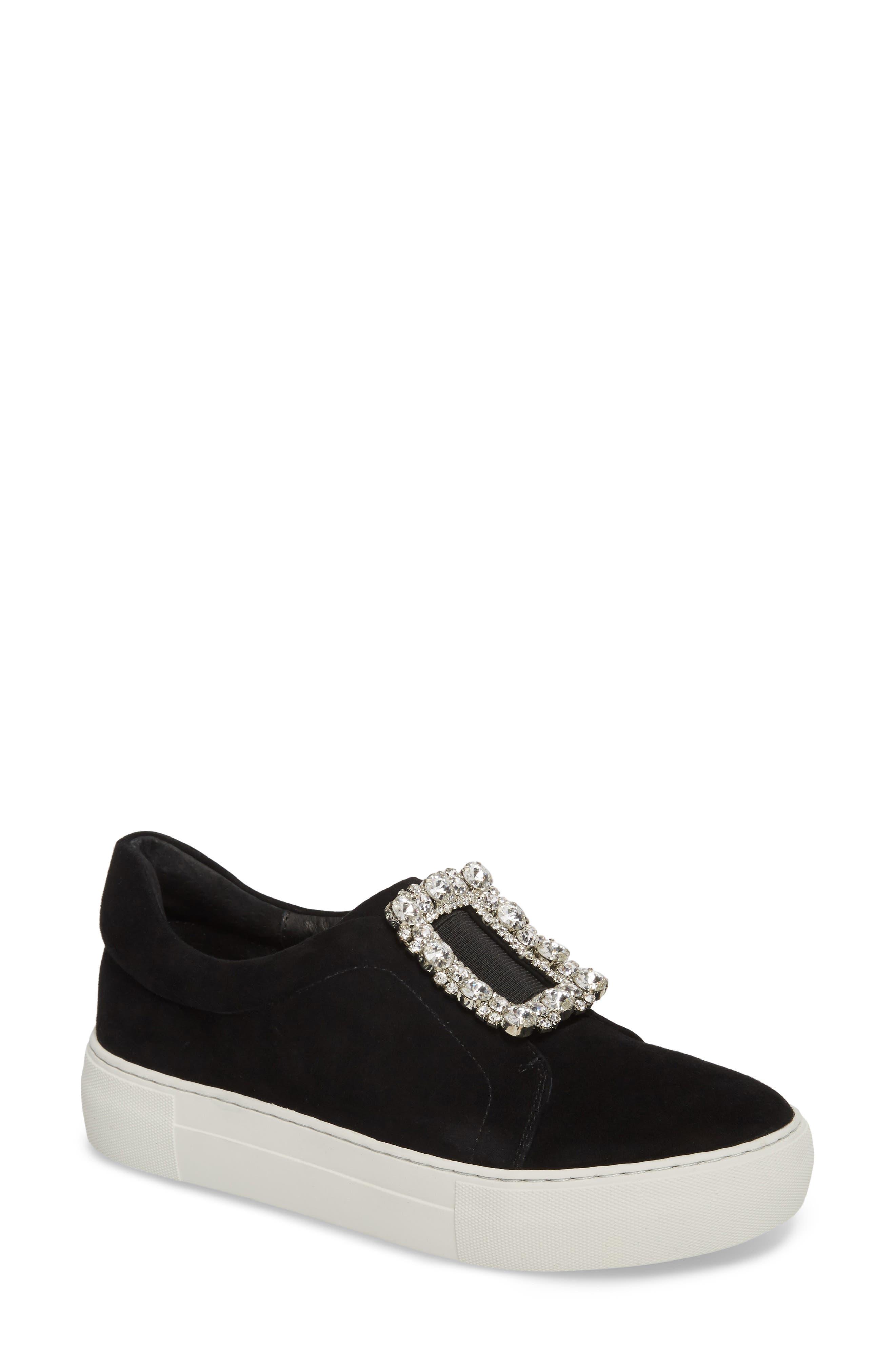 Alternate Image 1 Selected - JSlides Abode Embellished Buckle Platform Sneaker (Women)